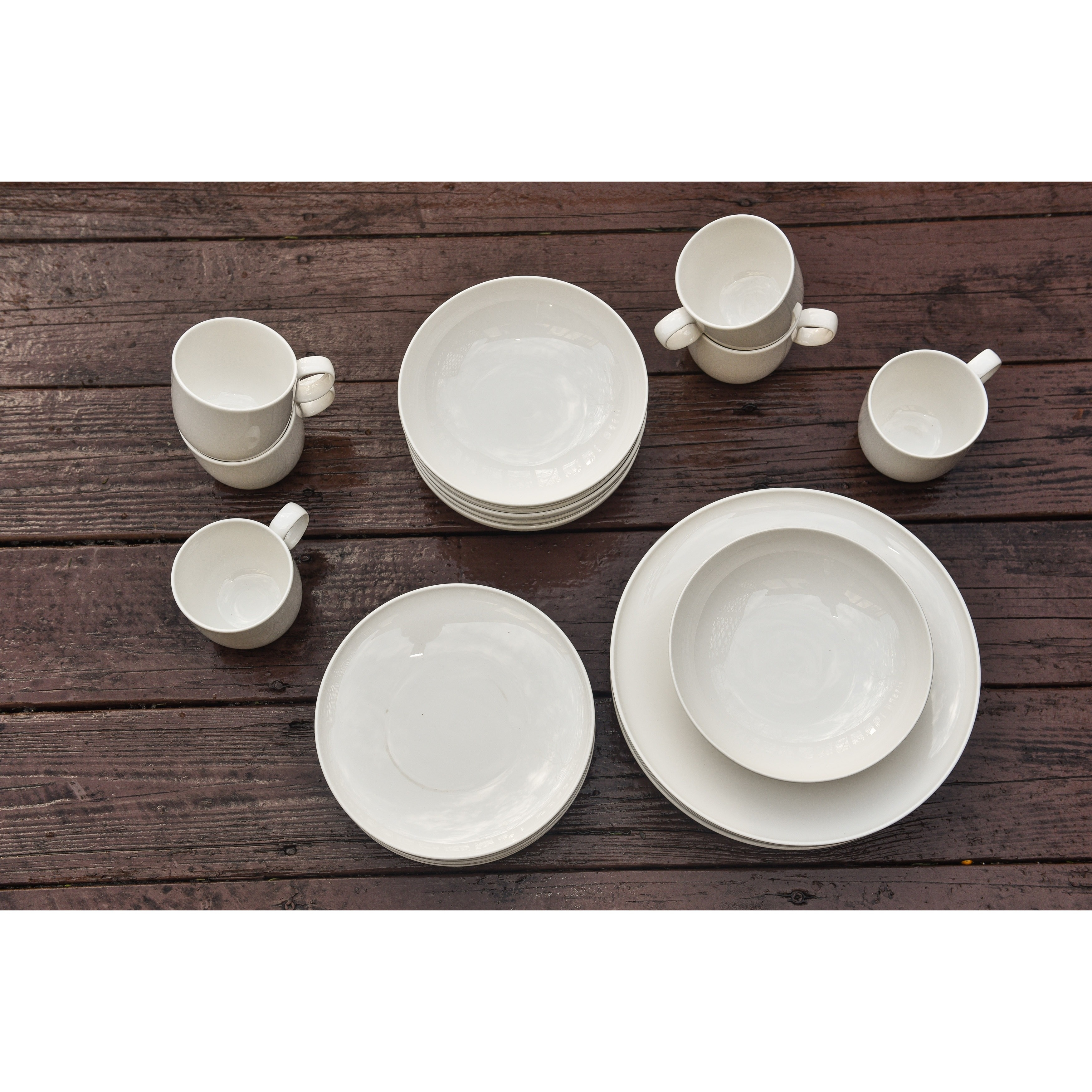 Red Vanilla Everytime White 24-piece Dinnerware Set - Free Shipping Today - Overstock.com - 12274653  sc 1 st  Overstock.com & Red Vanilla Everytime White 24-piece Dinnerware Set - Free Shipping ...
