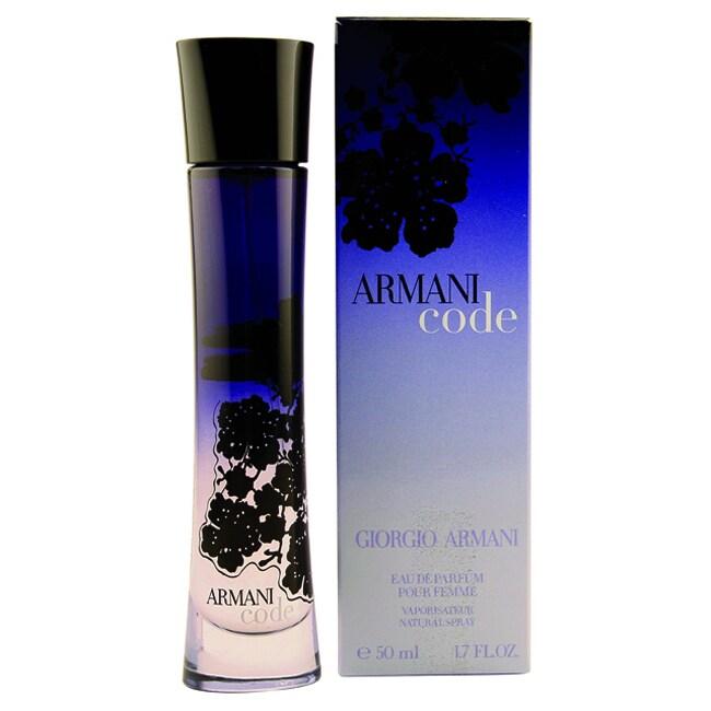Shop Giorgio Armani Code Womens 17 Ounce Eau De Parfum Spray