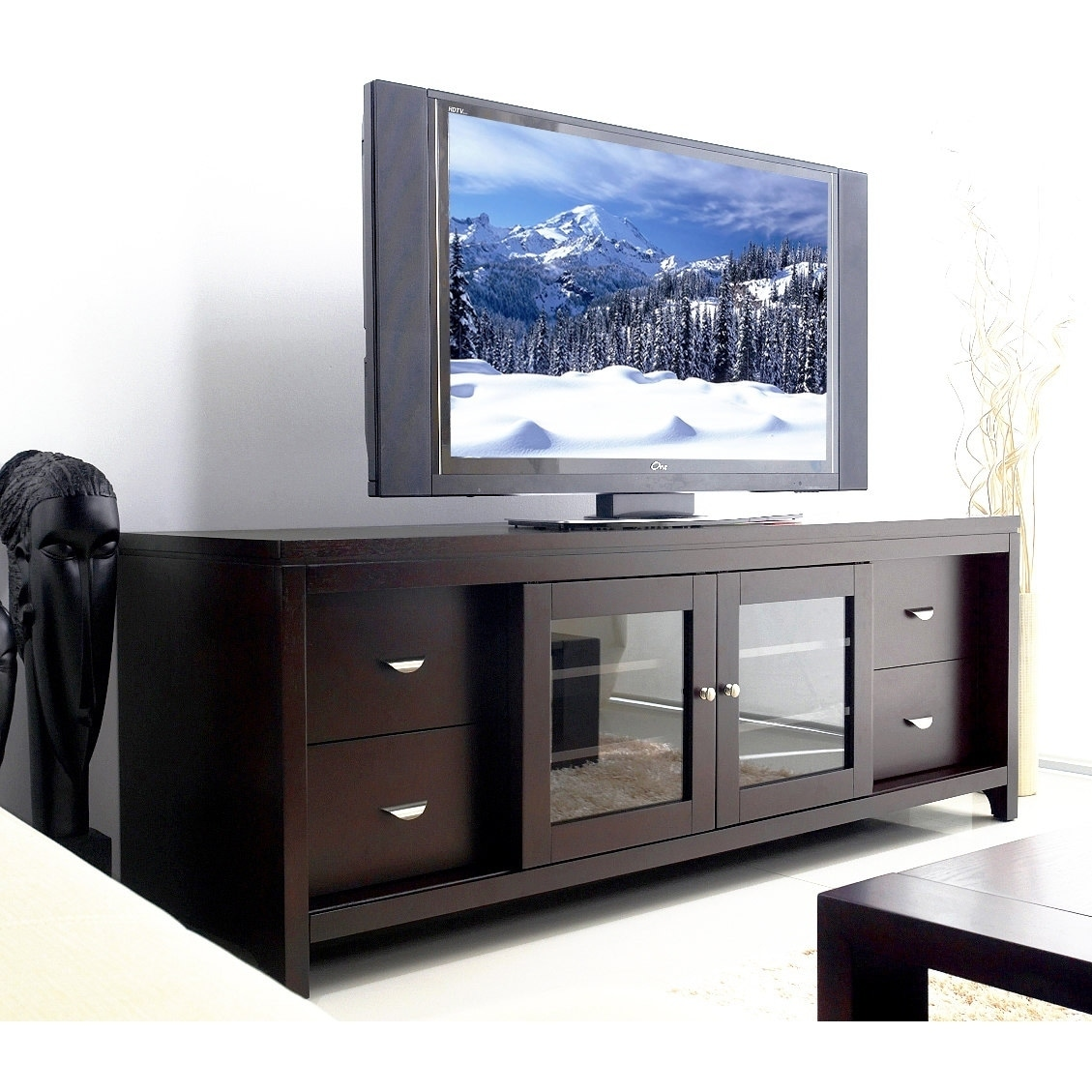 72 inch tv console porter shop abbyson clarkston solid wood 72inch tv console on sale free shipping today overstockcom 4296169