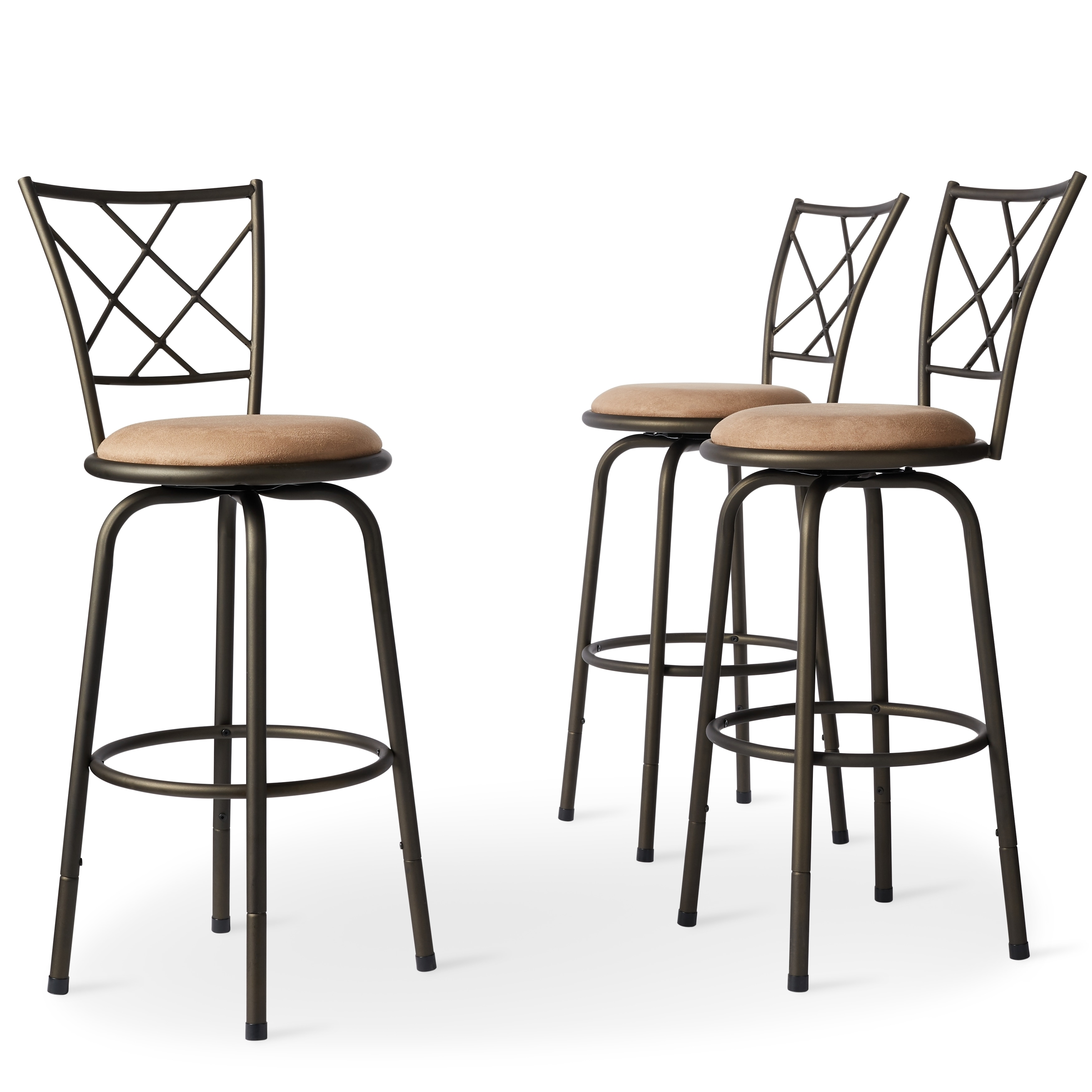 Superbe Shop Avalon Quarter Cross Adjustable Swivel High Back Kitchen Stools (Set  Of 3) By INSPIRE Q Classic   On Sale   Free Shipping Today   Overstock.com    ...