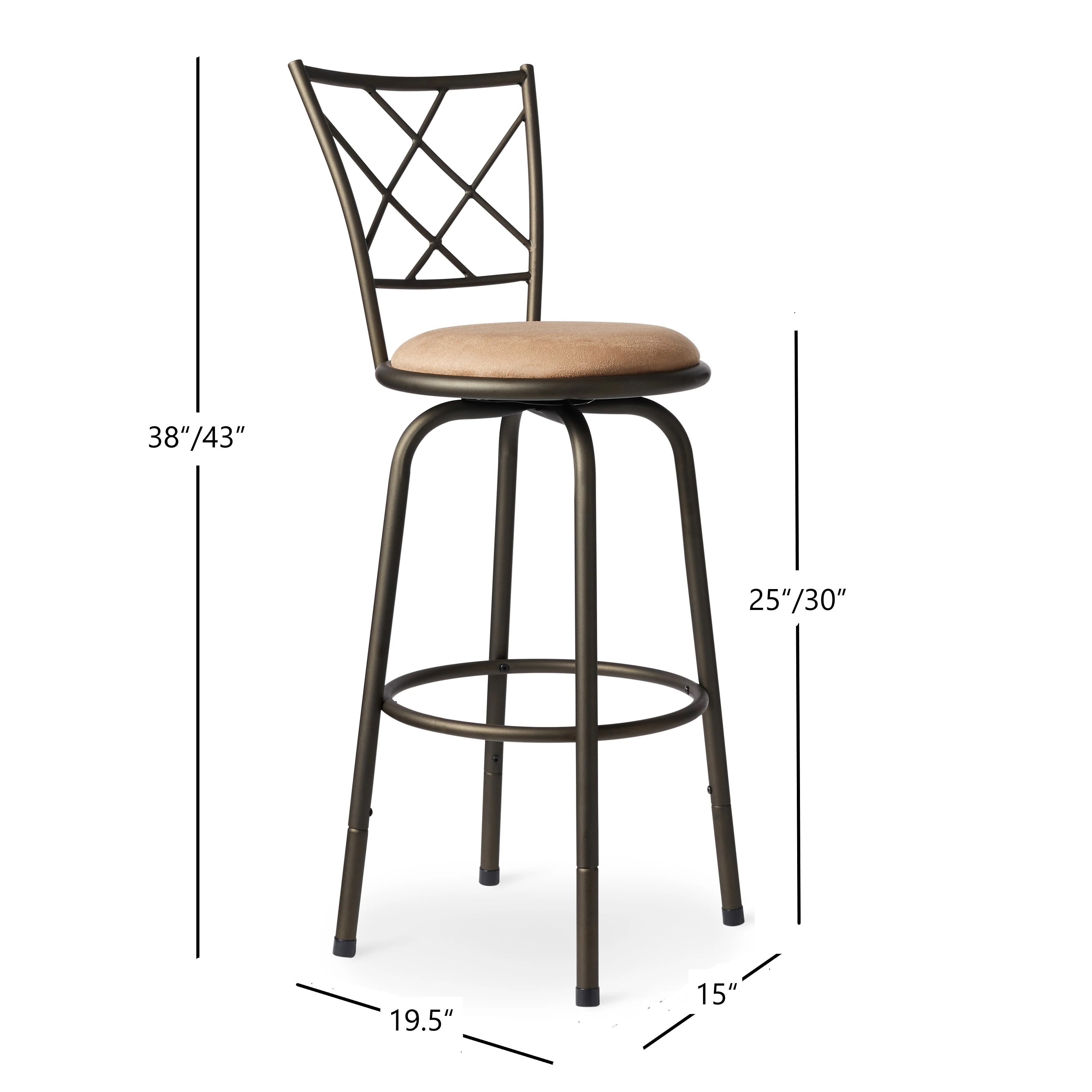 Shop avalon quarter cross adjustable swivel high back kitchen stools set of 3 by inspire q classic on sale free shipping today overstock 4302142