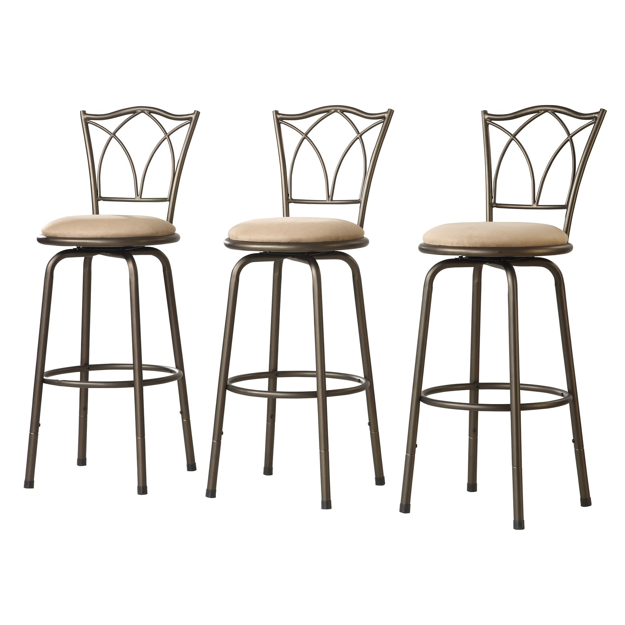 Avalon Double Cross Swivel High Back Counter Barstool (Set of 3) by iNSPIRE  Q Classic - Free Shipping Today - Overstock.com - 12280143