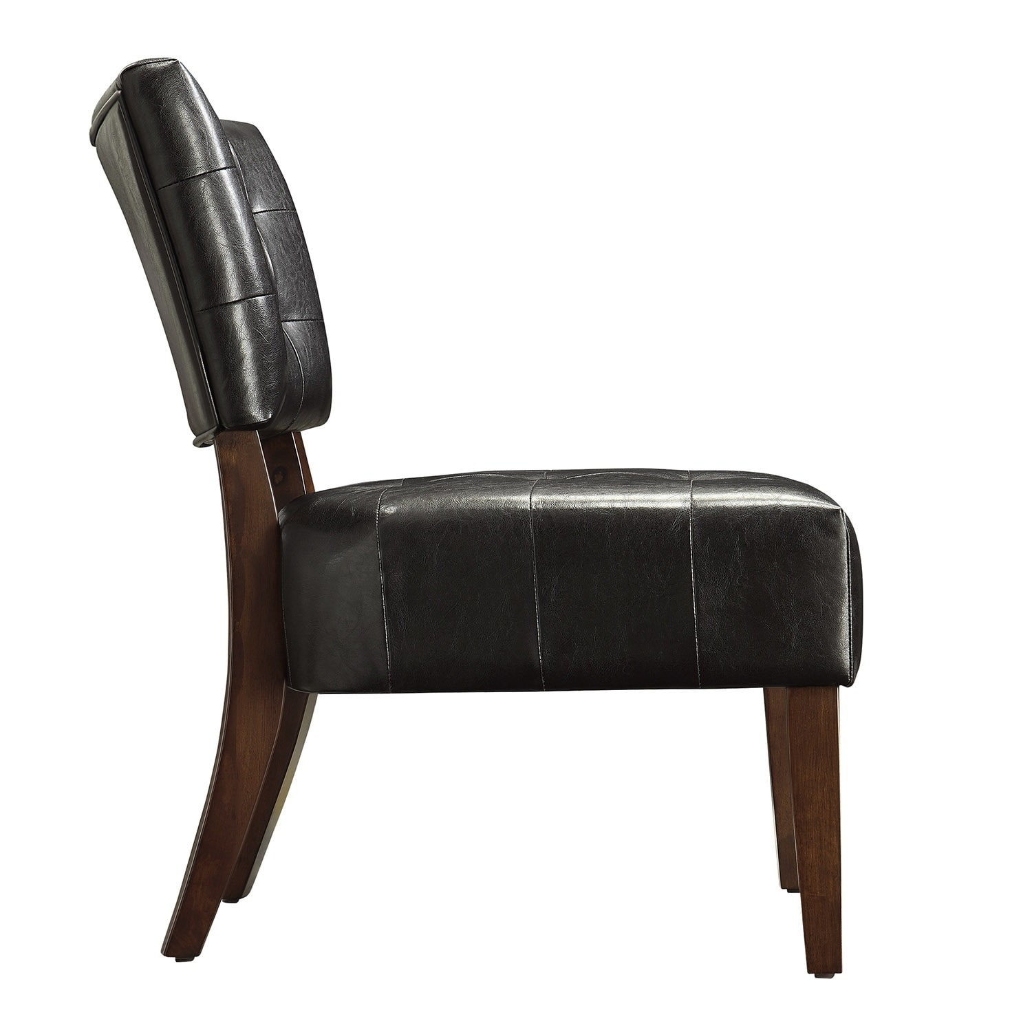 Charlotte Faux Leather Armless Accent Chair By Inspire Q Clic Free Shipping Today 4302144