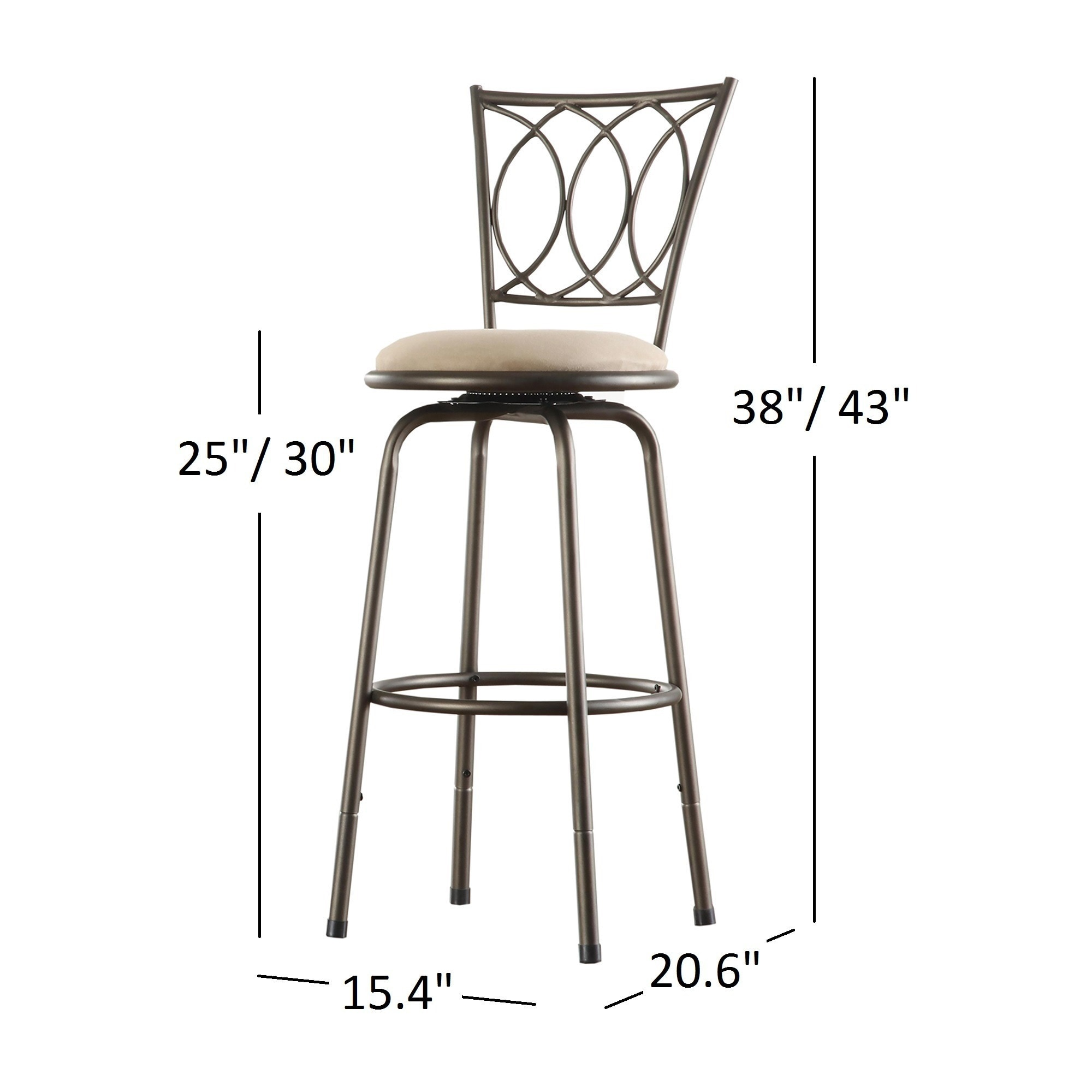 Avalon Scroll Adjustable Swivel High Back Counter Barstool (Set Of 3) By  INSPIRE Q Classic   Free Shipping Today   Overstock.com   12280141