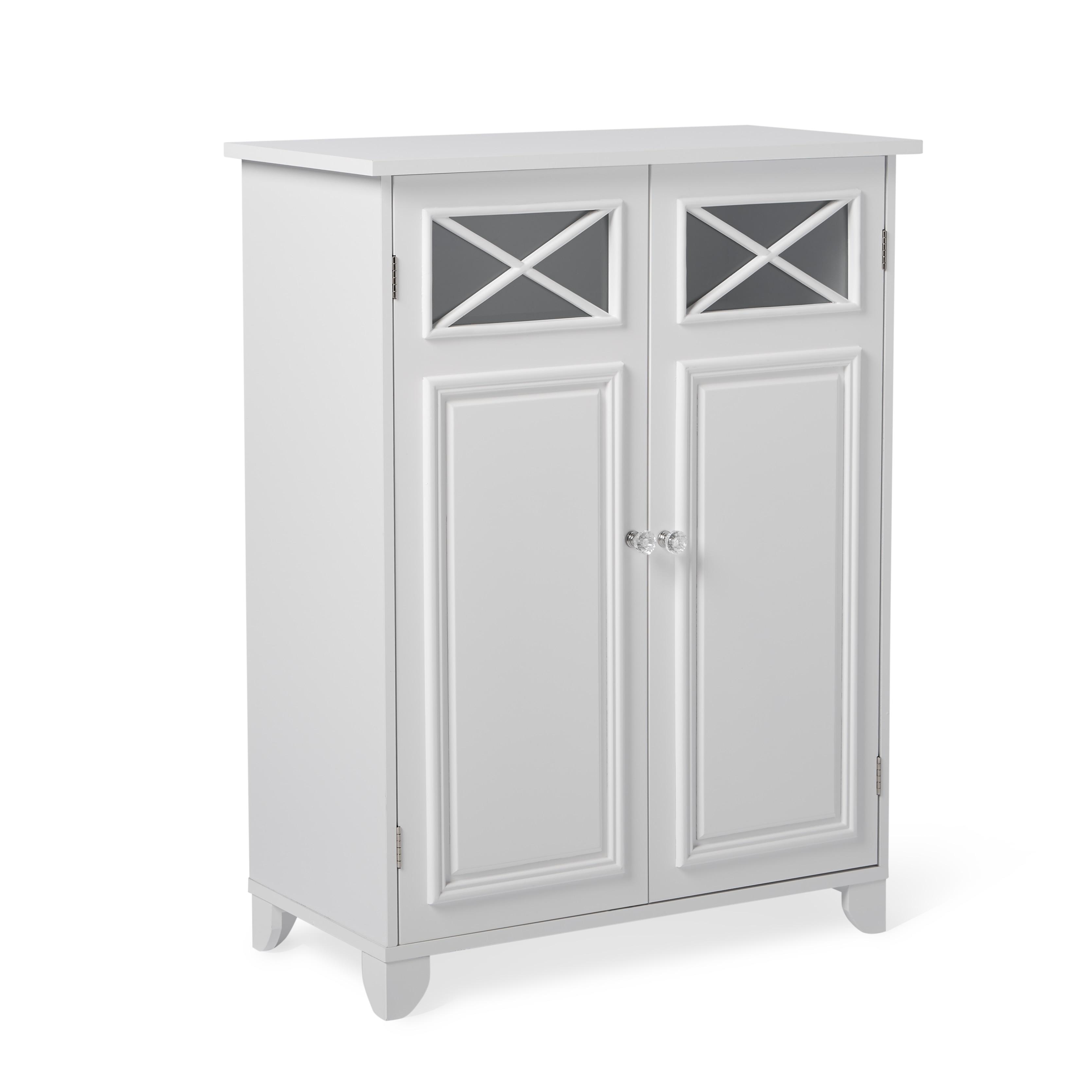 Shop Virgo White 2-door Floor Cabinet by Elegant Home Fashions ...