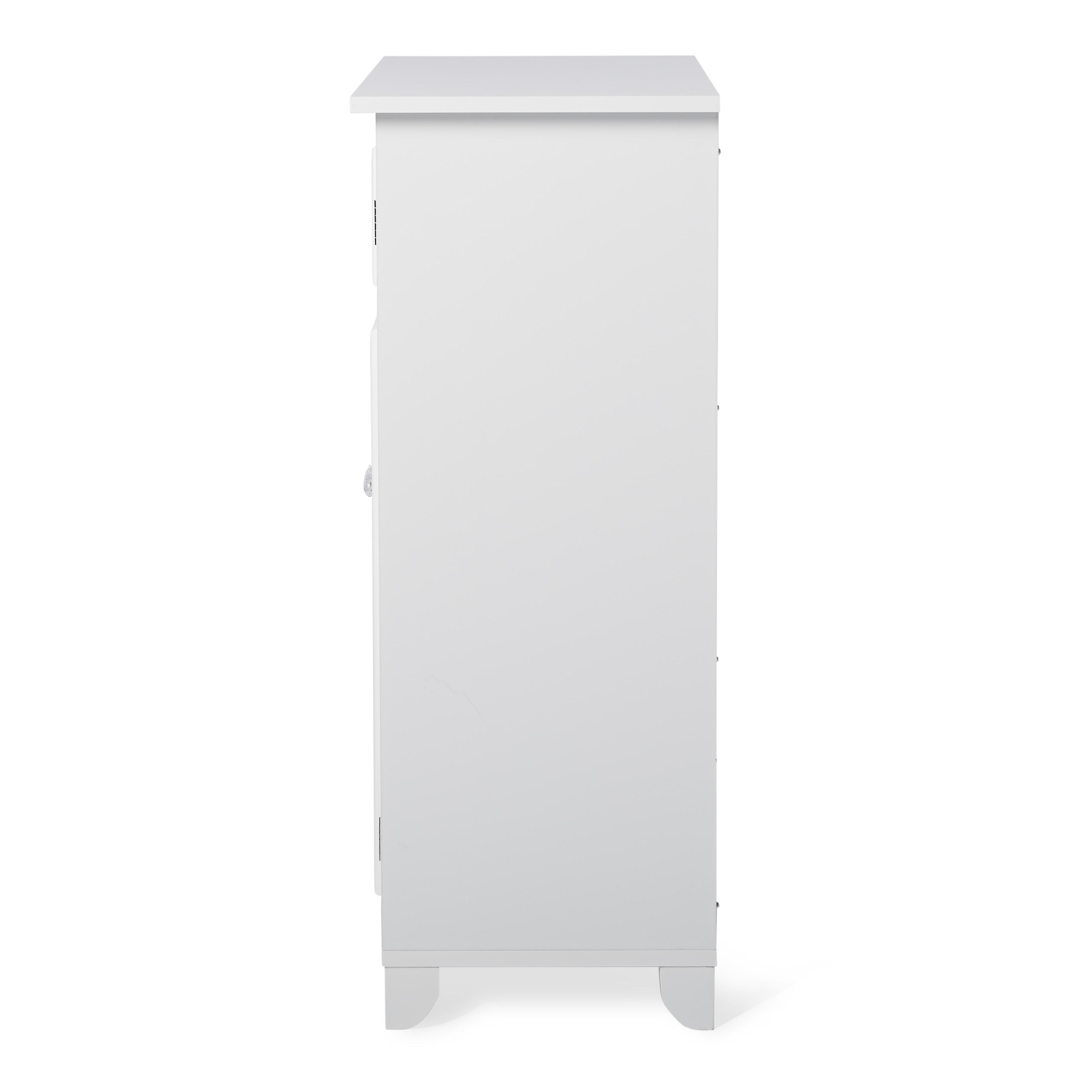 Virgo White 2-door Floor Cabinet by Elegant Home Fashions - Free ...