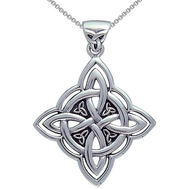 Shop Sterling Silver Celtic Spiritual Trinity Symbol Necklace Free