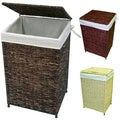 America Basket Company Woven Maize Full-Load Metal-Frame Lined Hamper