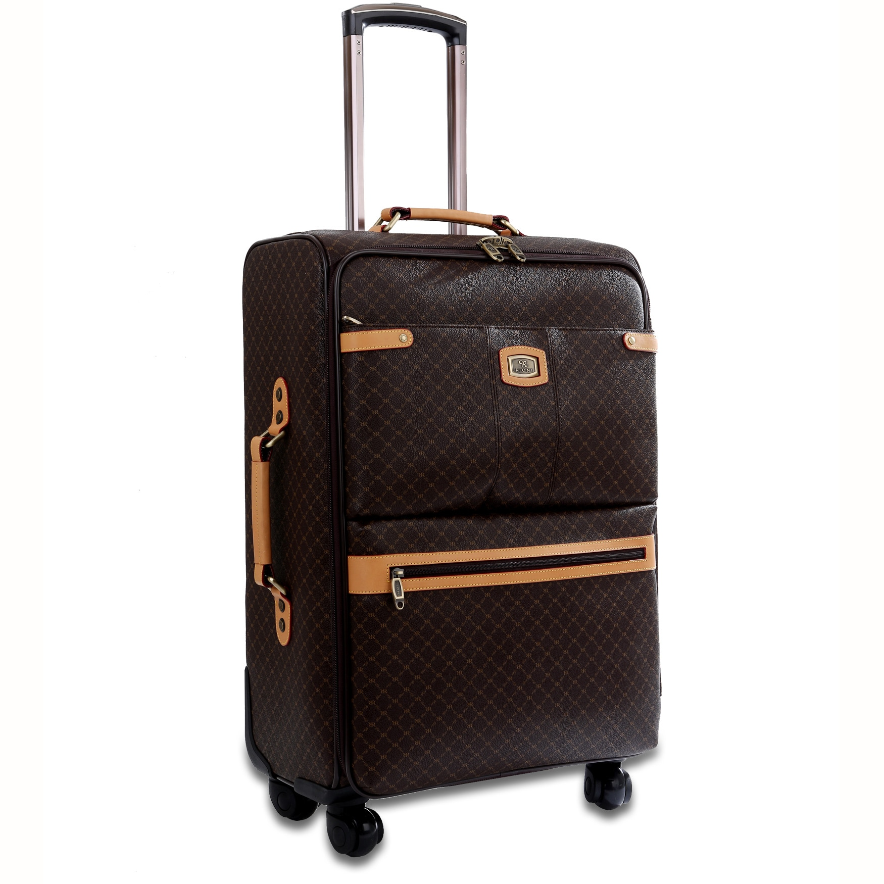adf3587b1612 Rioni Signature Designer 25-inch Fasion Spinner Upright Suitcase