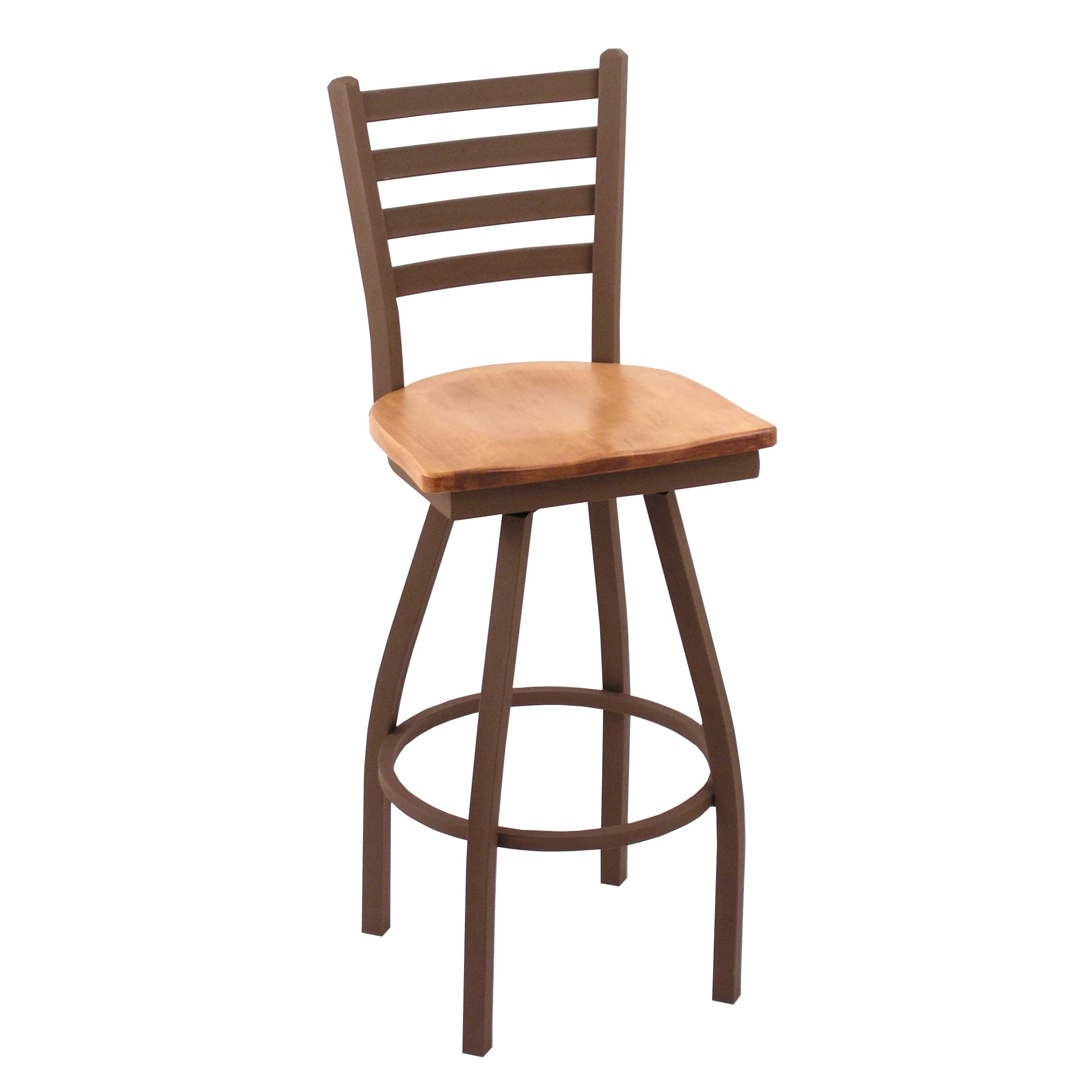 Shop Bronze 25 Inch Counter Stool Medium Maple Seat Free Shipping
