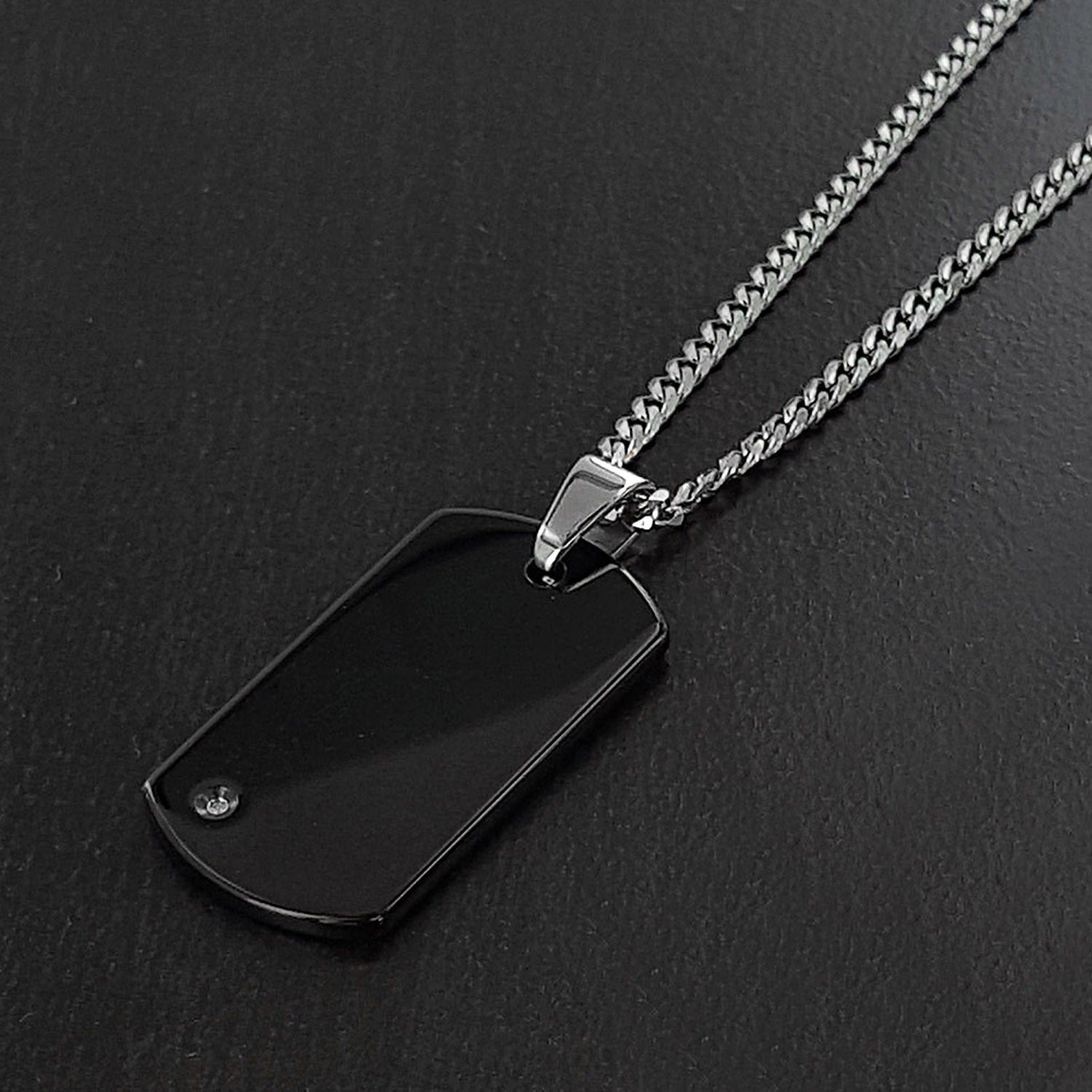 jewelry edge shipping tungsten carbon free on id watches over overstock inches pendant orders product fiber mirror white tag dog