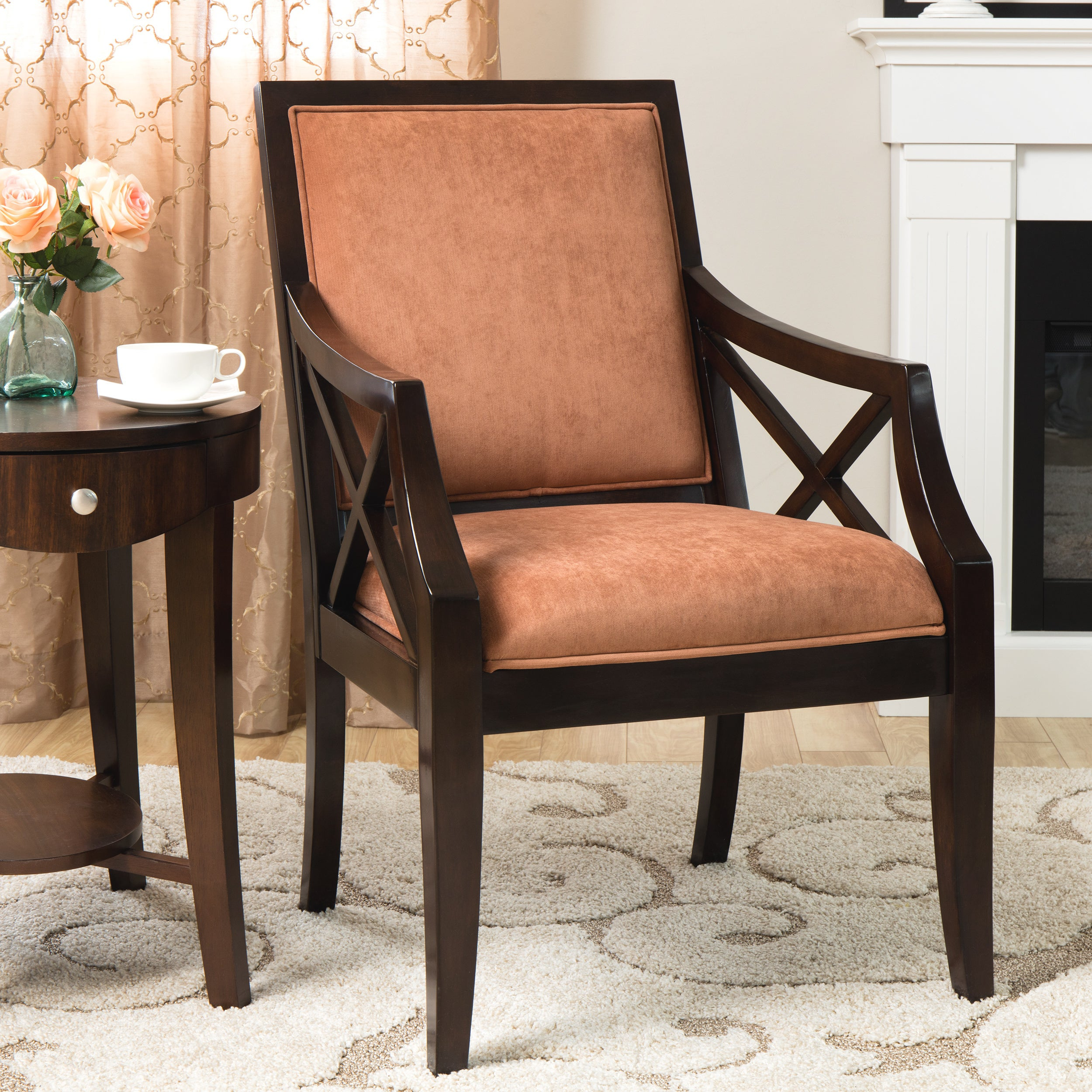 Seville Square Back Chair Brick   Free Shipping Today   Overstock   12318378