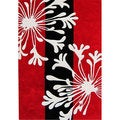 Alliyah Handmade Bright Red New Zealand Blend Wool Rug (5' x 8')