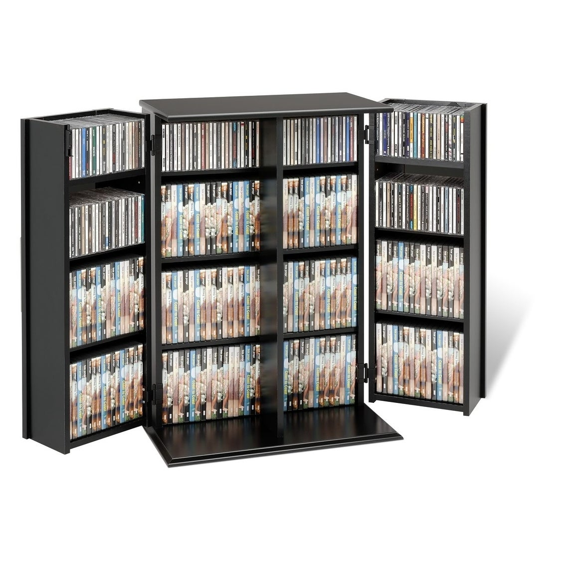 Shop Broadway Locking DVD/CD Media Storage Cabinet   Free Shipping Today    Overstock.com   4354579