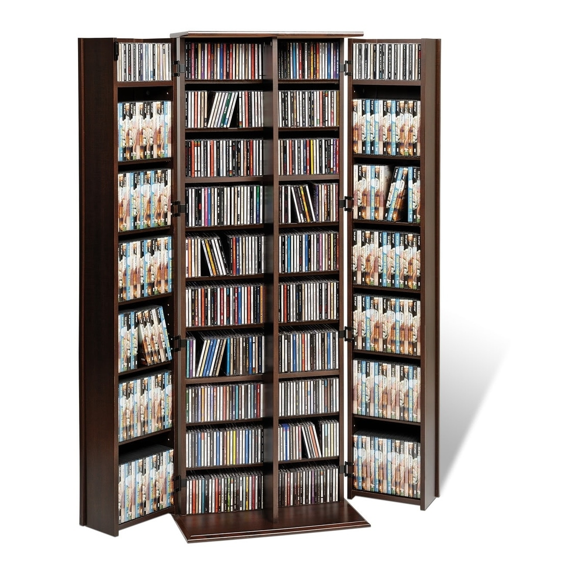 Everett Espresso Large Deluxe CD/ DVD Media Storage - Free Shipping Today -  Overstock.com - 12325524