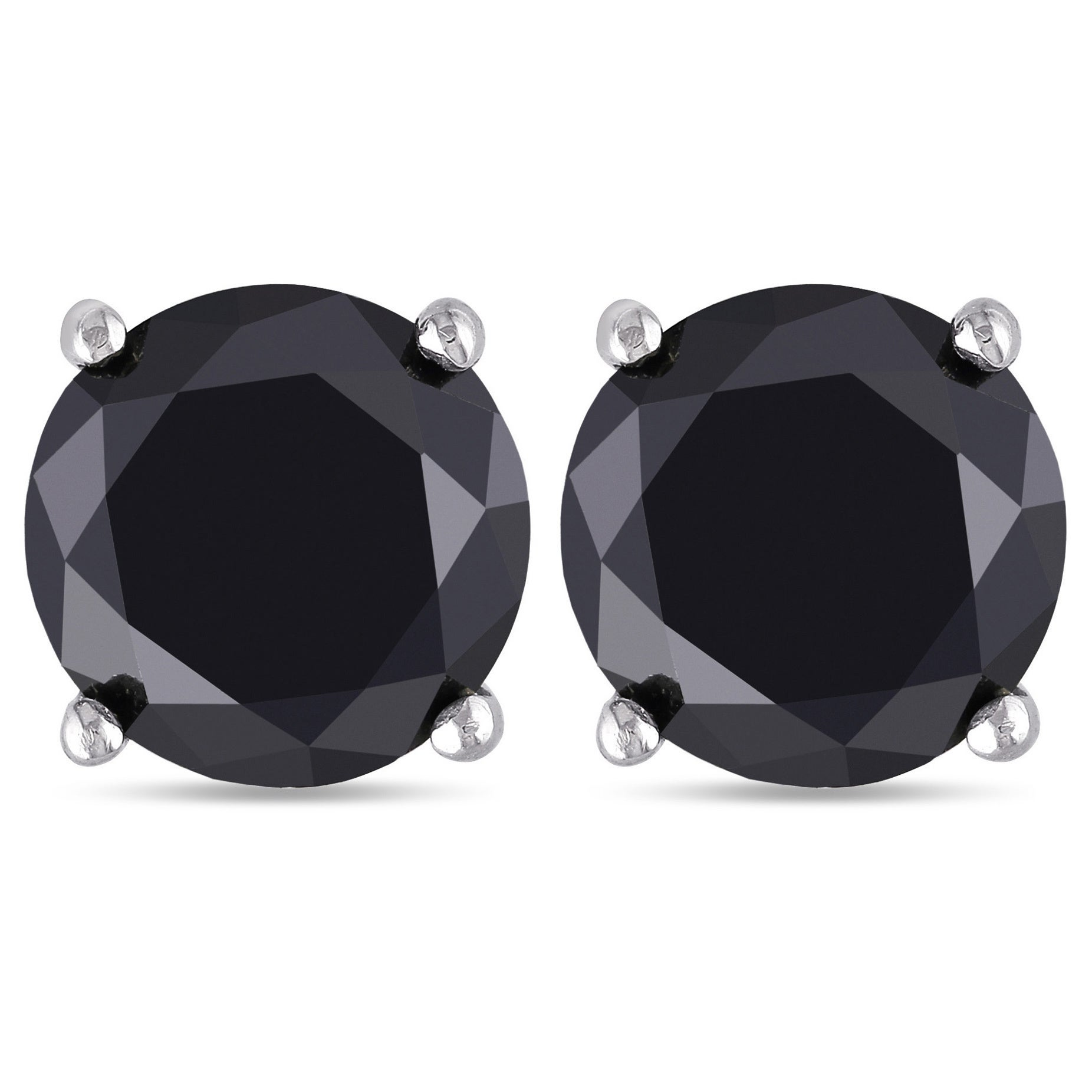black off stud tw cut ct aaa w diamond t round earrings