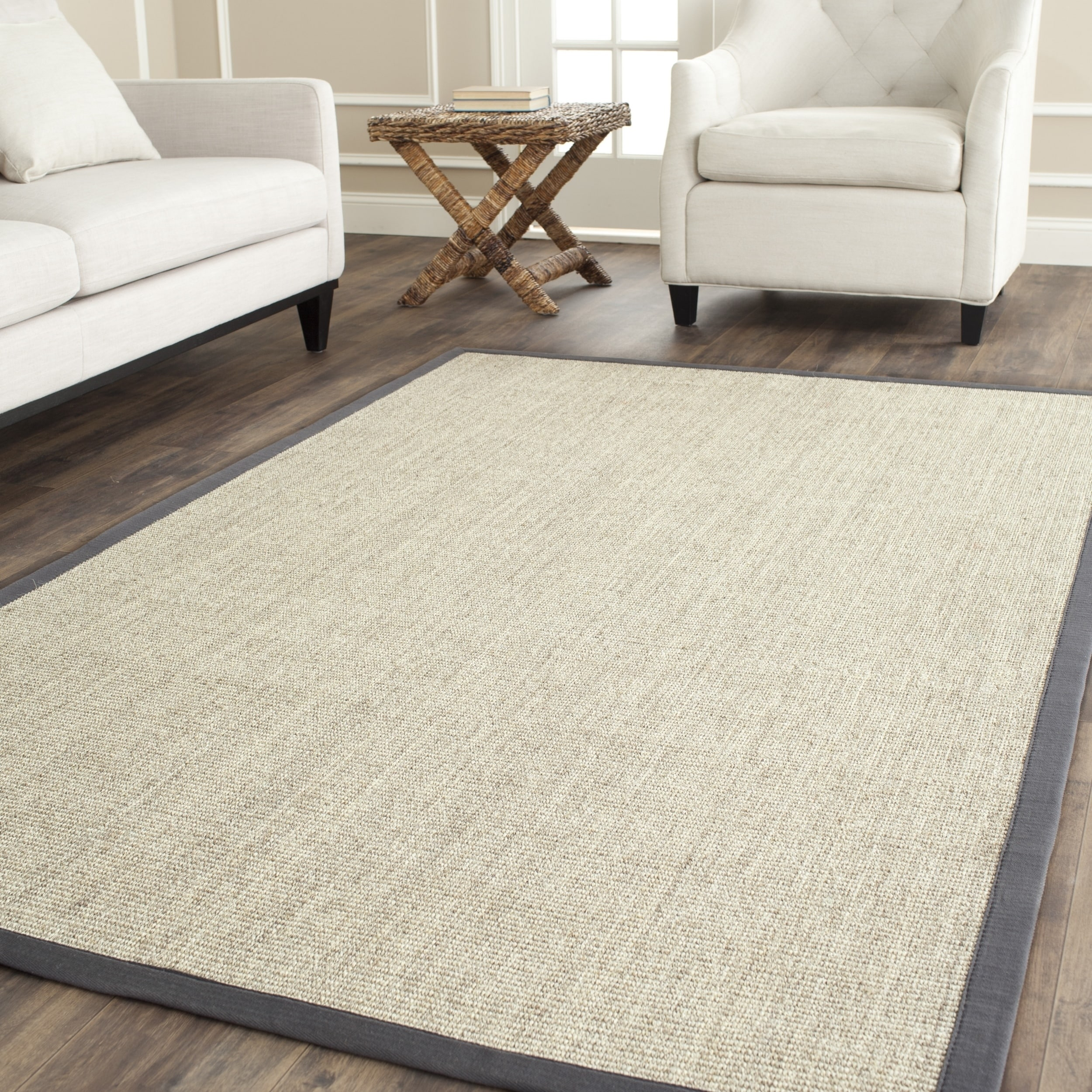 Safavieh Casual Natural Fiber Hand Woven Serenity Marble Grey Sisal Rug 3 X 5 On Free Shipping Today Com 4382708