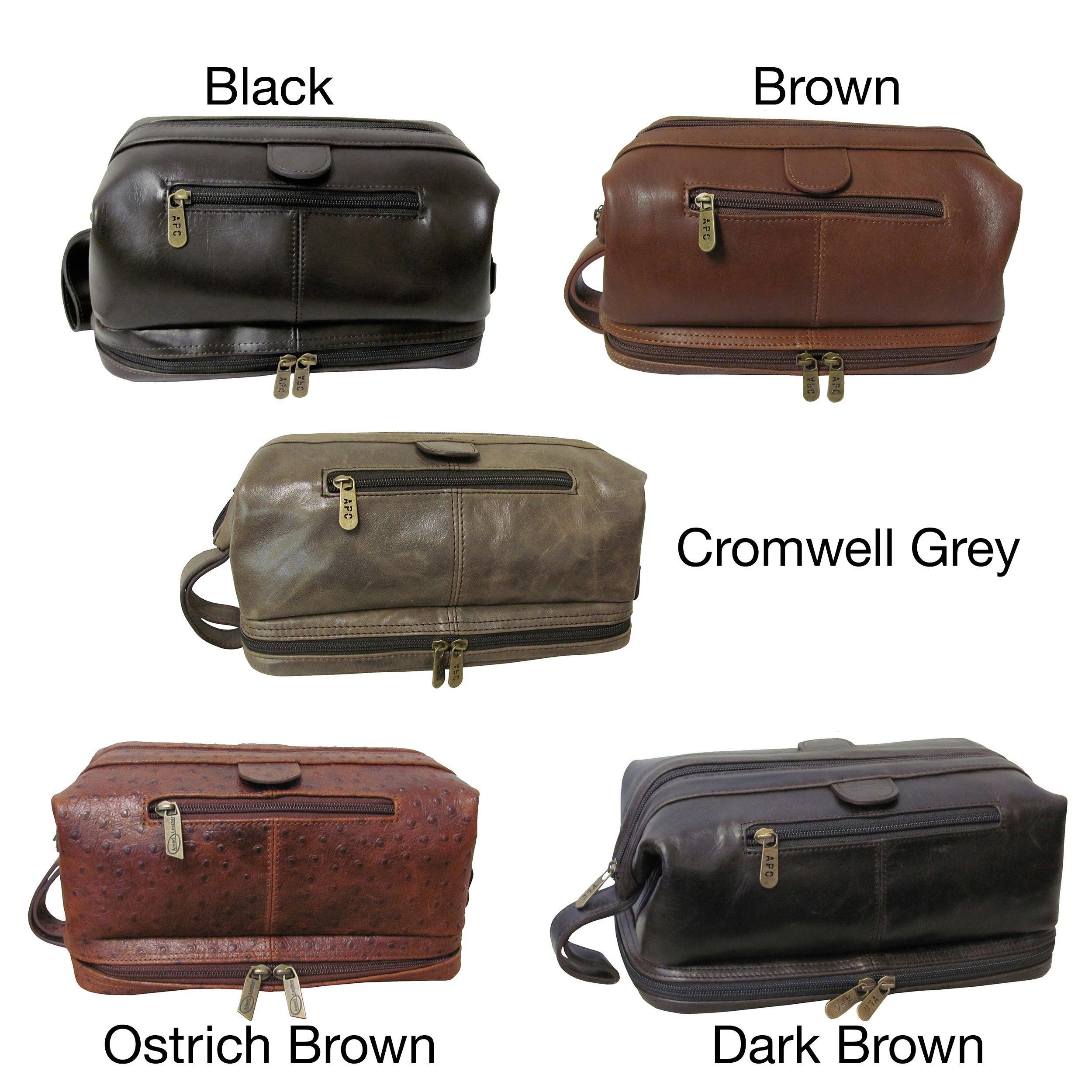 Shop Amerileather Men s Leather Toiletry Bag - Free Shipping On Orders Over   45 - Overstock - 43887 b28bf13e4a8ec