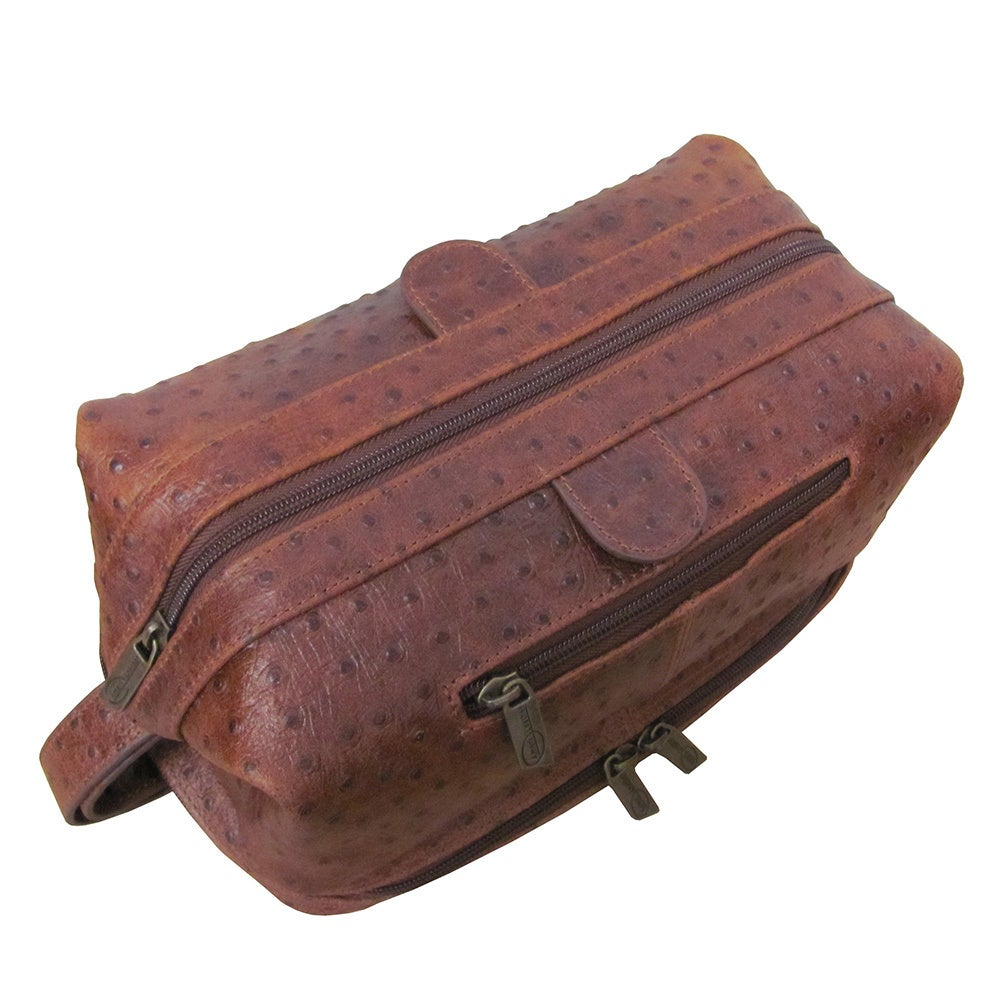 76b0848981 Shop Amerileather Men s Leather Toiletry Bag - Free Shipping On Orders Over   45 - Overstock - 43887