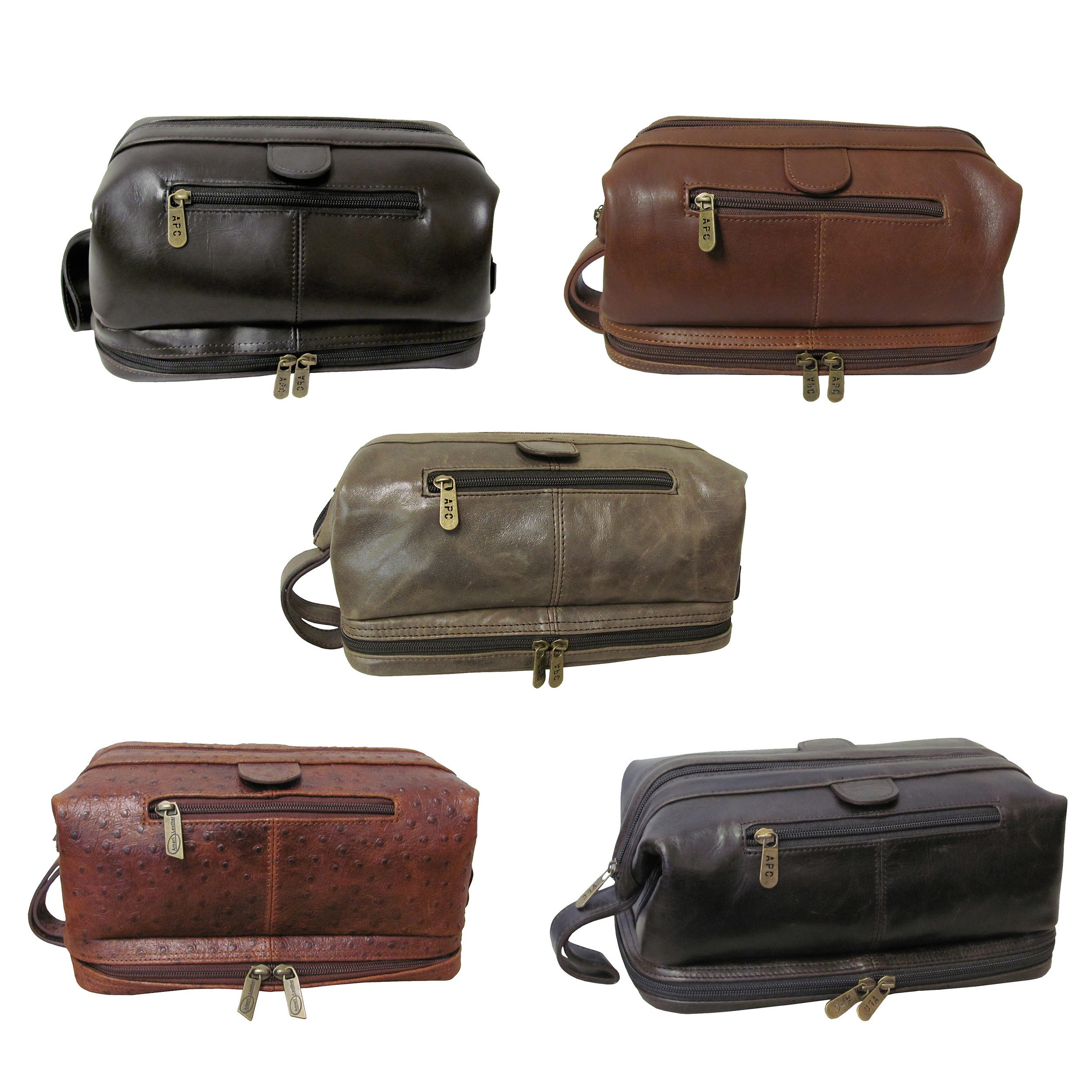 Shop Amerileather Men s Leather Toiletry Bag - Free Shipping On Orders Over   45 - Overstock - 43887 e97825fc9fb41