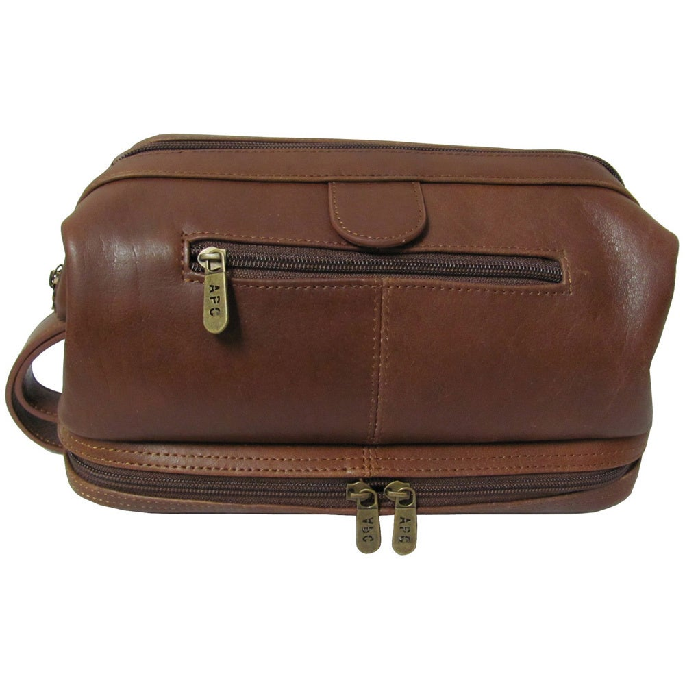 Amerileather Men S Leather Toiletry Bag On Free Shipping Orders Over 45 43887