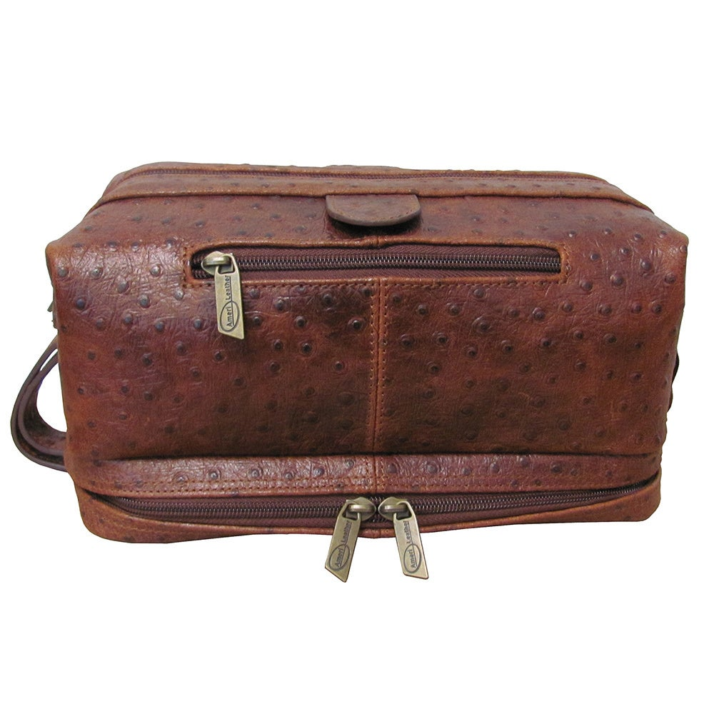 5a21c1e99c Shop Amerileather Men s Leather Toiletry Bag - Free Shipping On Orders Over   45 - Overstock - 43887