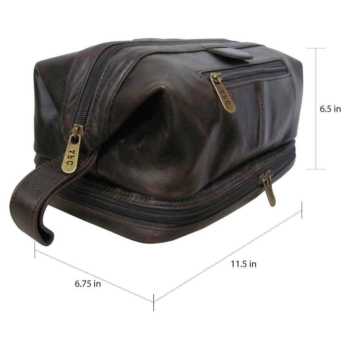 f682e9598a18 Shop Amerileather Men s Leather Toiletry Bag - Free Shipping On Orders Over   45 - Overstock - 43887