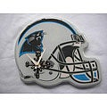 Carolina Panthers White and Blue Collectible Helmet-shaped Clock