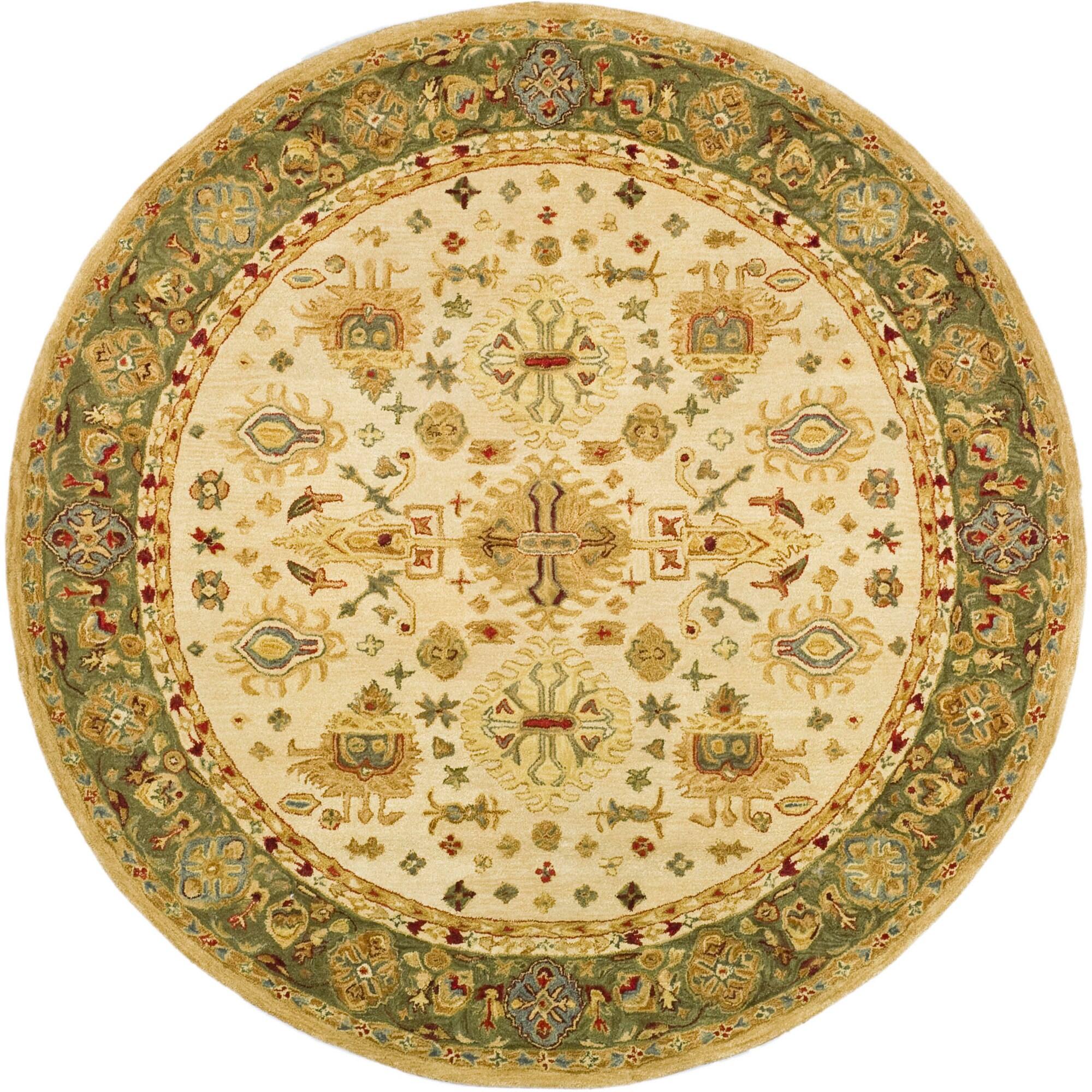 Safavieh Handmade Anatolia Oriental Heirloom Ivory Light Green Hand Spun Wool Rug 4 X Round Free Shipping Today 12357093