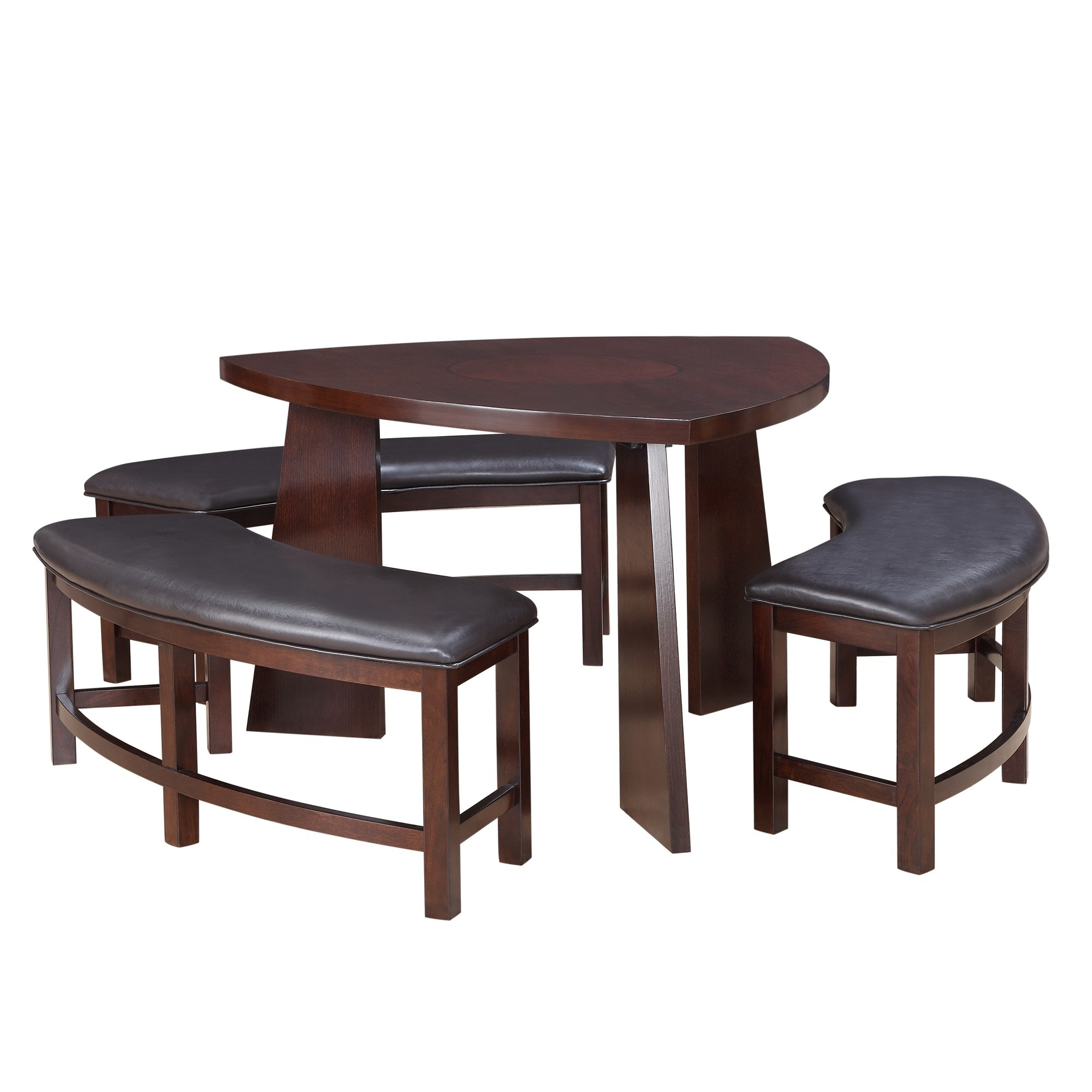 Amazing Paradise Merlot Triangle Shaped 4 Piece Dining Set By INSPIRE Q Bold   Free  Shipping Today   Overstock   12363404