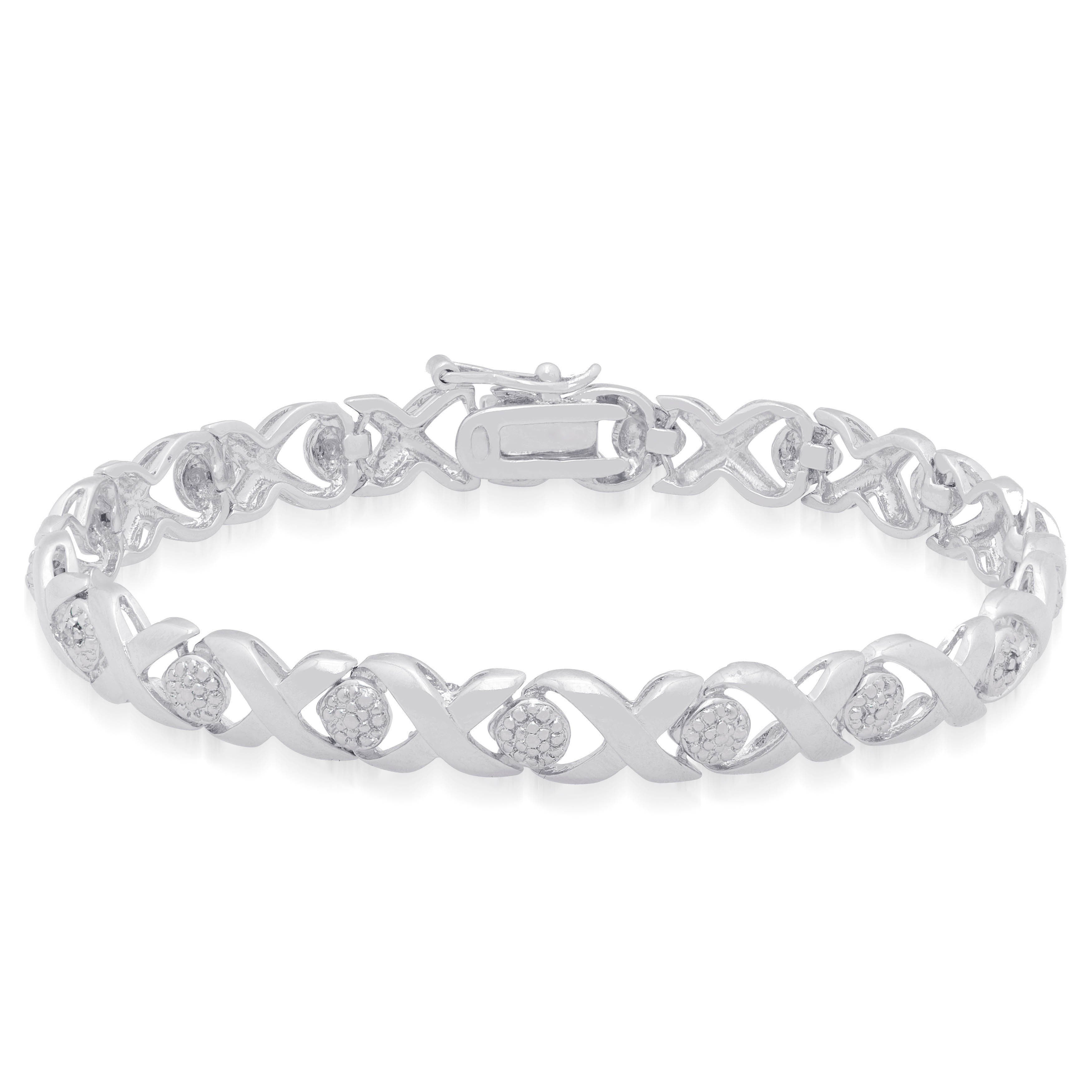 Finesque Sterling Silver X And O Diamond Accent Bracelet J K I3 On Free Shipping Orders Over 45 4405140