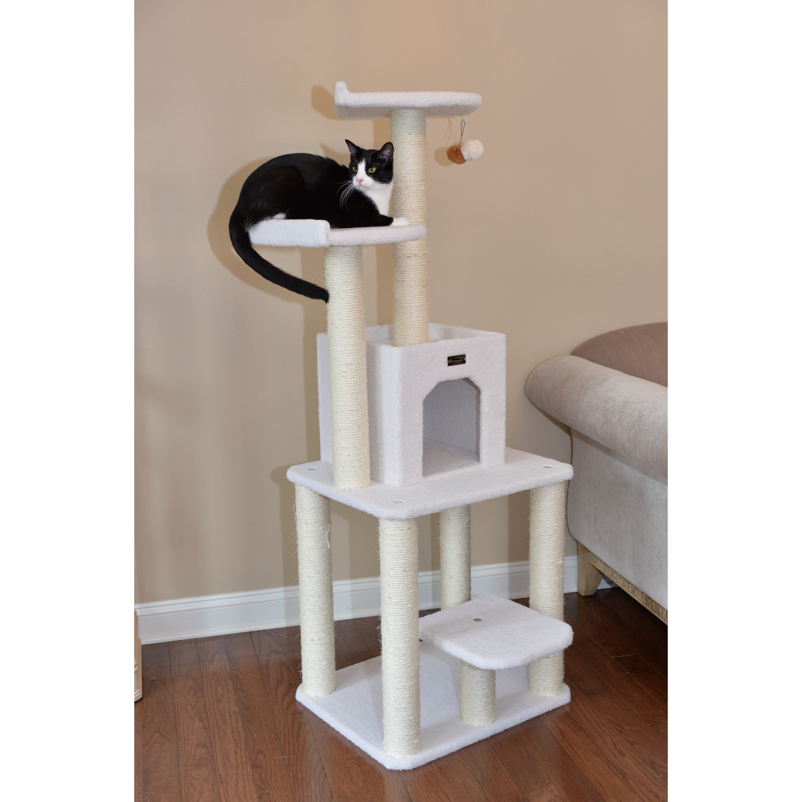 cfm tree baxterboo p inch beige day classic furniture with cat armarkat shipping same