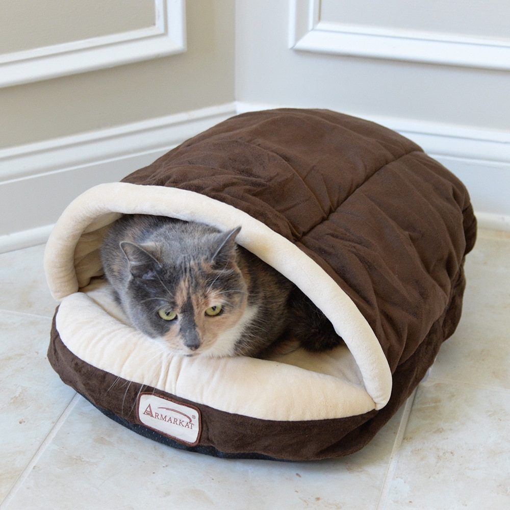 photo Armarkat Slipper Shape Pet Bed, MochaBeige