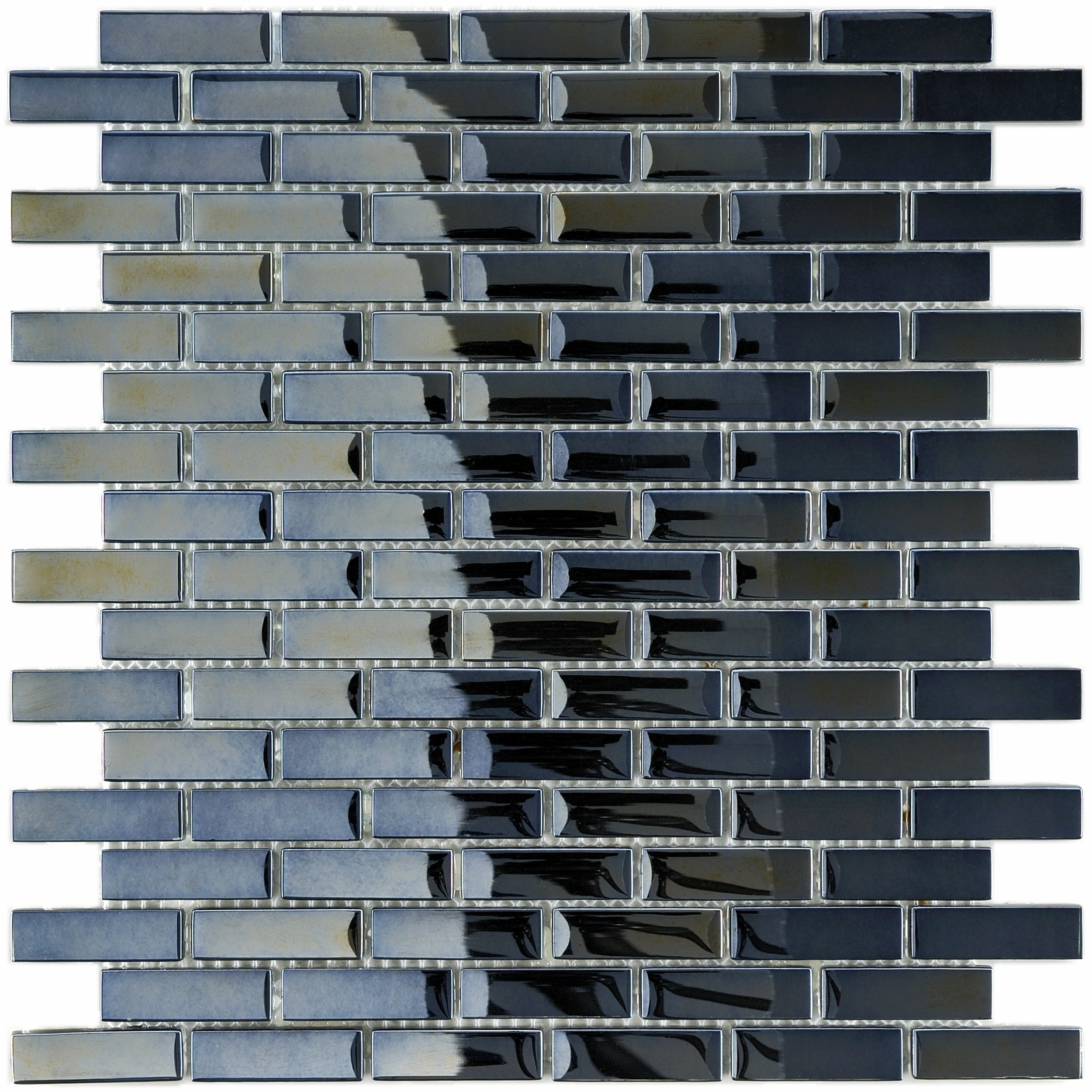 Somertile 1175x1175 inch obsidian subway mirror glass mosaic wall somertile 1175x1175 inch obsidian subway mirror glass mosaic wall tile 10 tiles96 sqft free shipping today overstock 12378435 dailygadgetfo Choice Image