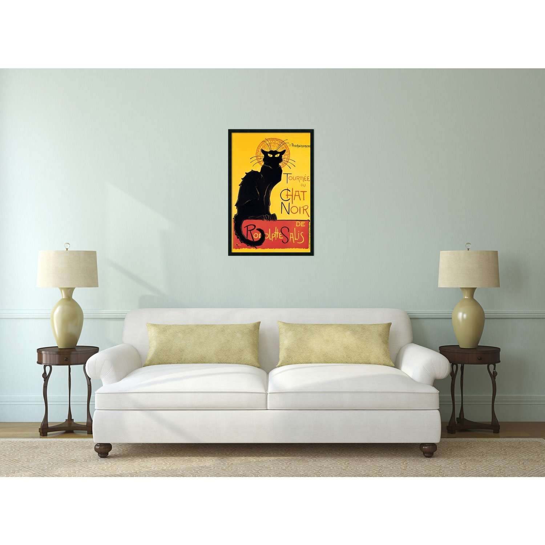 Theophile Alexandre Steinlen Tournee Du Chat Noir Framed Art Yellow Free Shipping Today 4427568