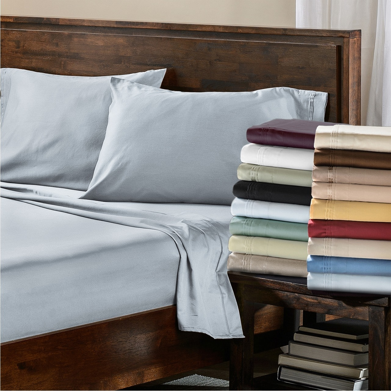 Shop Superior Egyptian Cotton 650 Thread Count Split King Solid Deep Pocket  Sheet Set   On Sale   Free Shipping Today   Overstock.com   4433231