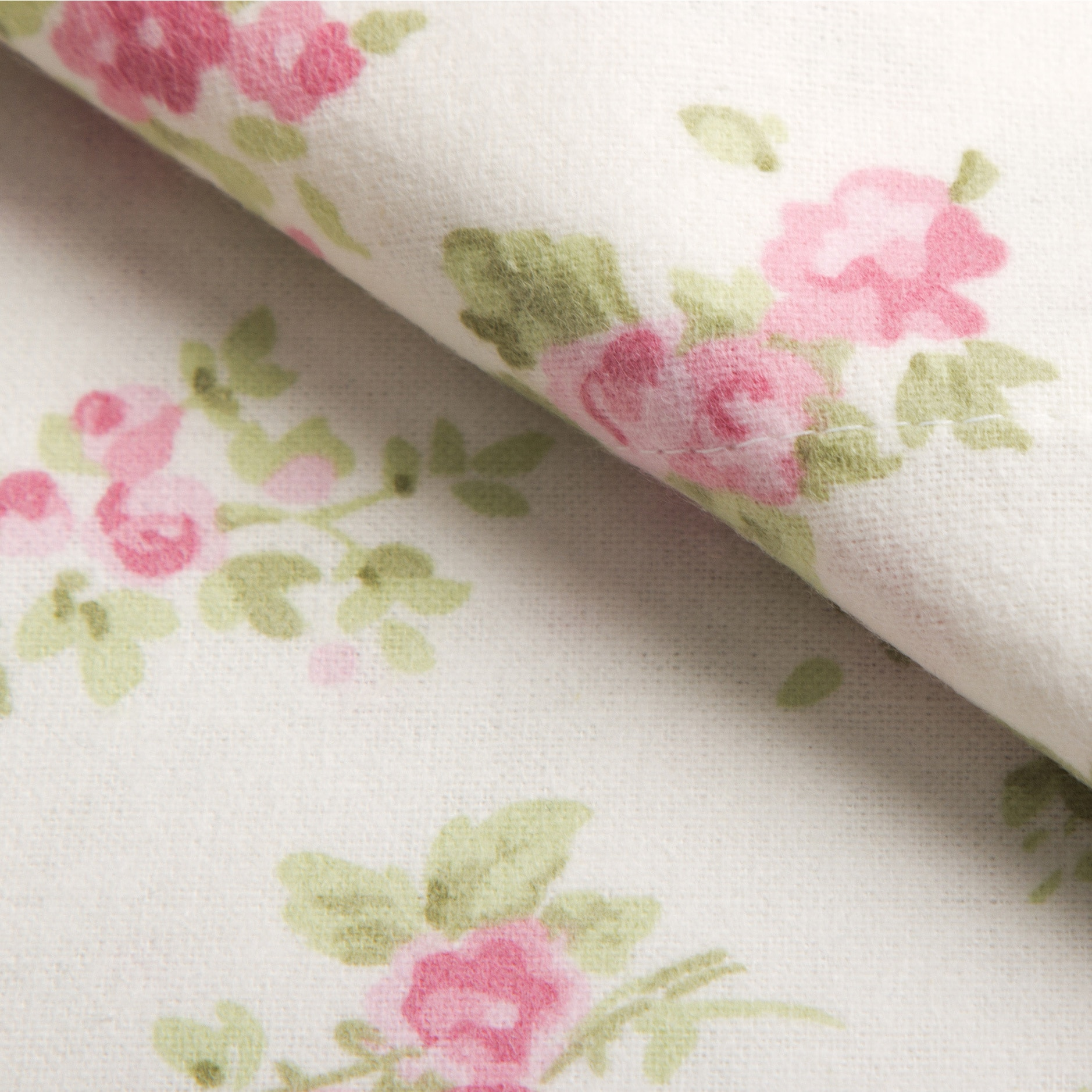 Cloth /& Canopy Full Size Floral Sheet Set Gray Petals Pattern on White Double Bed Cotton Luxury Blossom