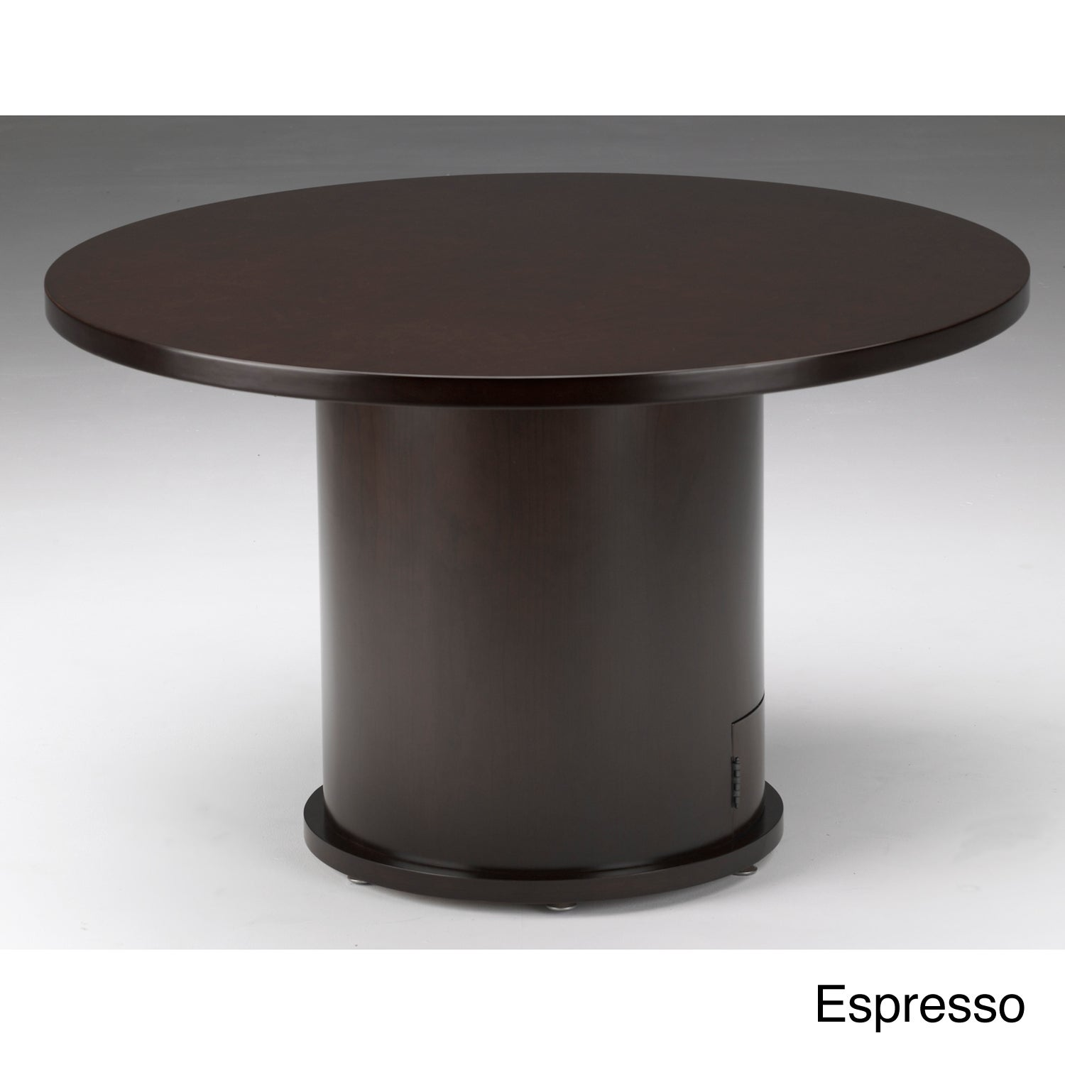 Shop Mayline Mira Wood Veneer Round Conference Table With Drum Base - 36 round conference table