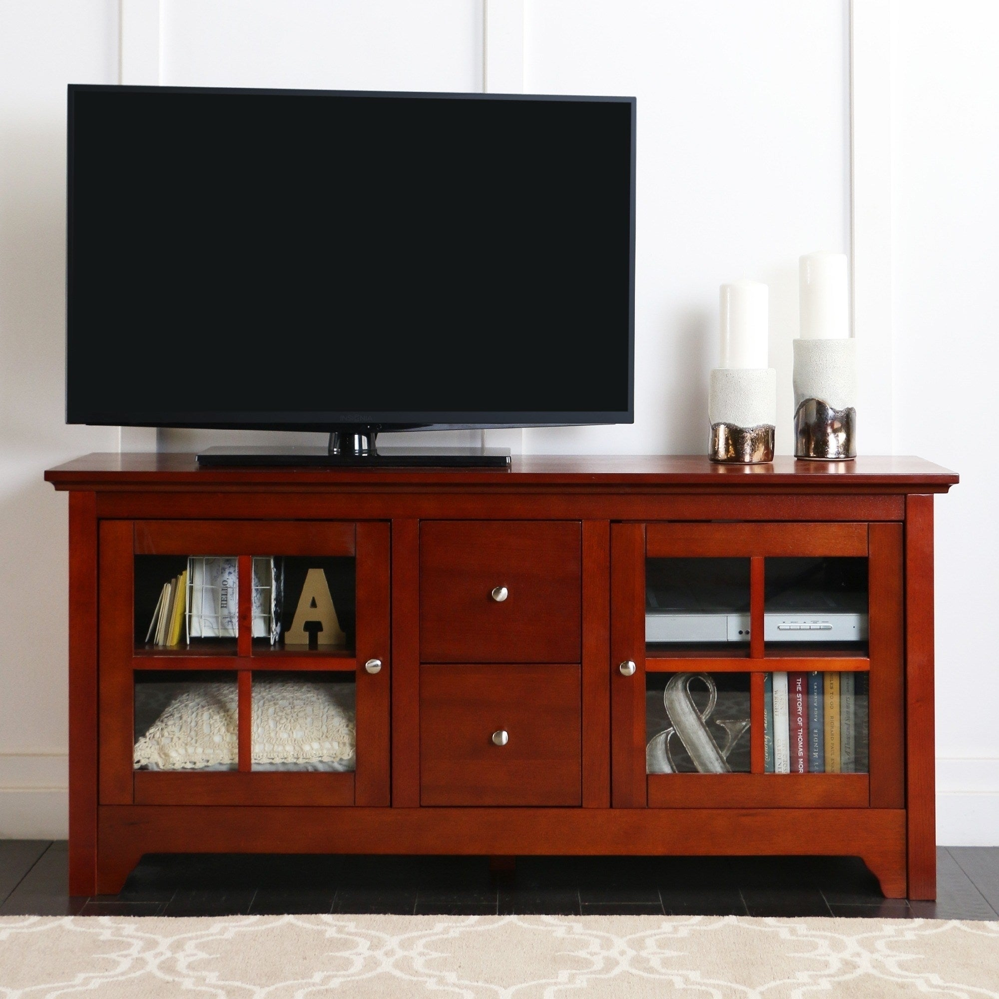 Shop 53 Tv Stand Console With Drawers 53 X 16 X 25h On Sale