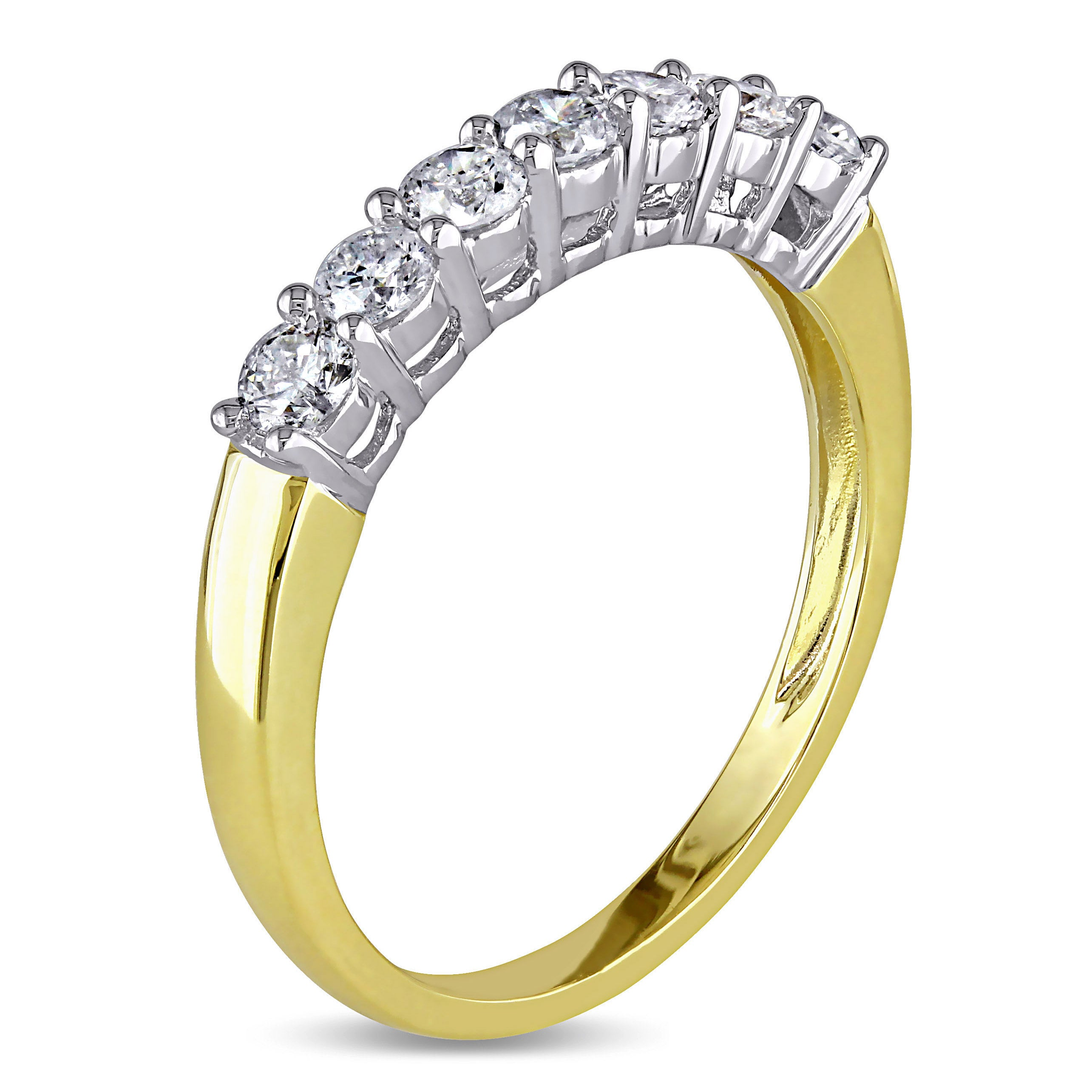 cttw pave wedding top flat gold ring rings band set itm diamond women