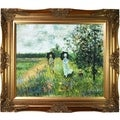 Monet 'The Promenade Near Argenteuil' Hand Painted Oil Reproduction