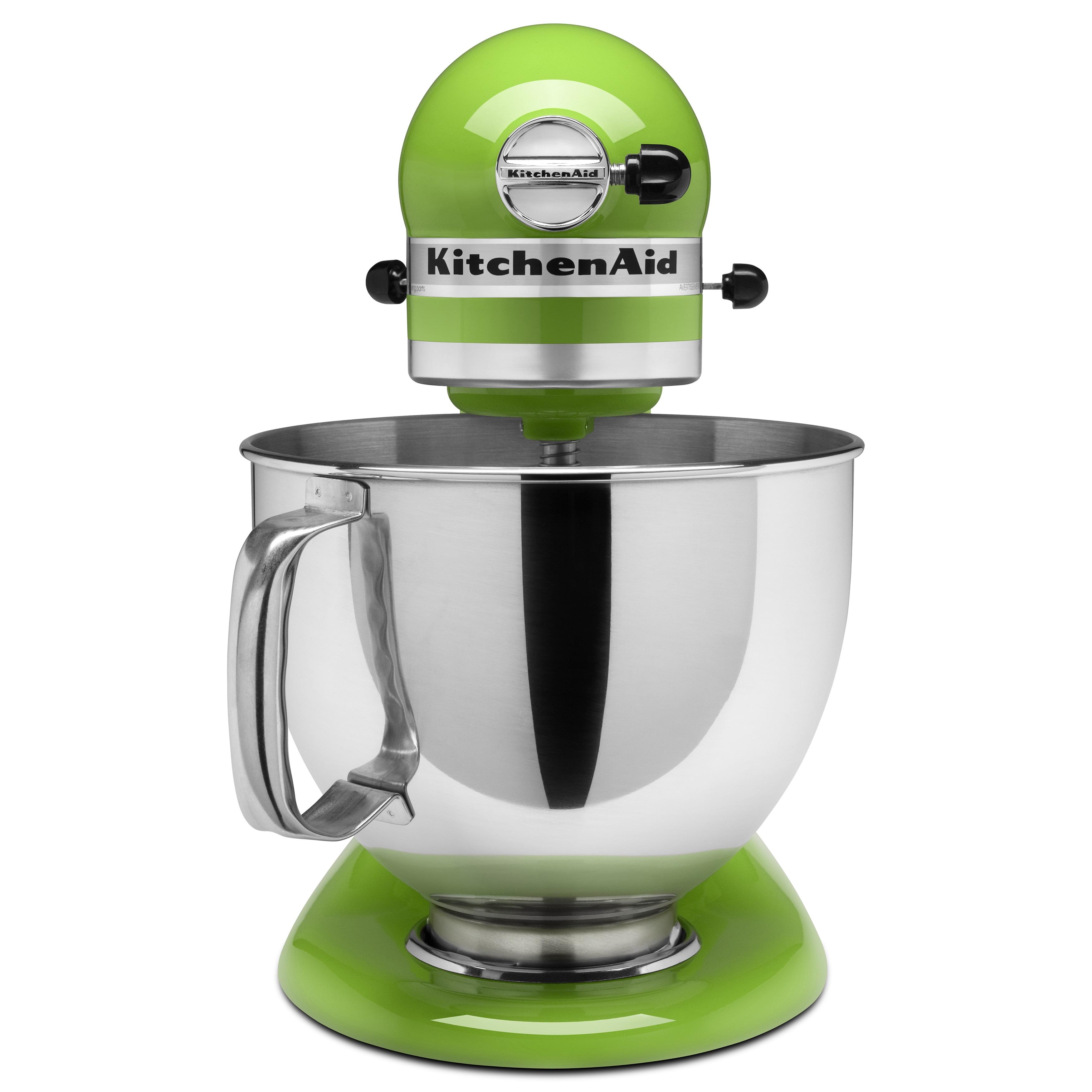 shop kitchenaid ksm150psga green apple 5 qt tilt head stand mixer