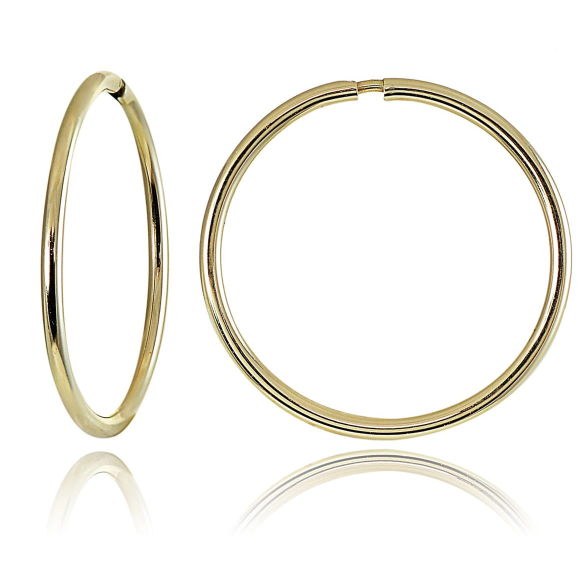 Mondevio 10k Gold 11mm Endless Hoop Earrings On Free Shipping Orders Over 45 4509479