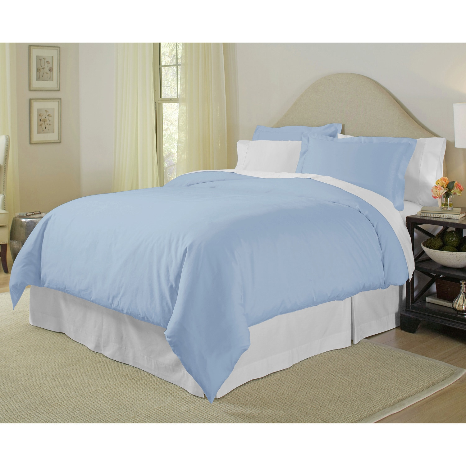 cc3902e595 Shop Pointehaven Pima Cotton 400 Thread Count 3-piece Duvet Cover Set -  Free Shipping Today - Overstock - 4509547
