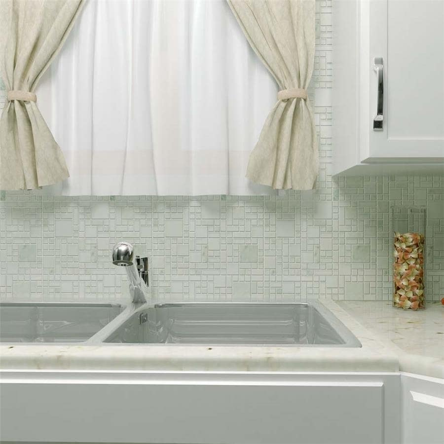 Shop SomerTile 11.75x11.75-inch Reflections Versailles Ming Glass ...