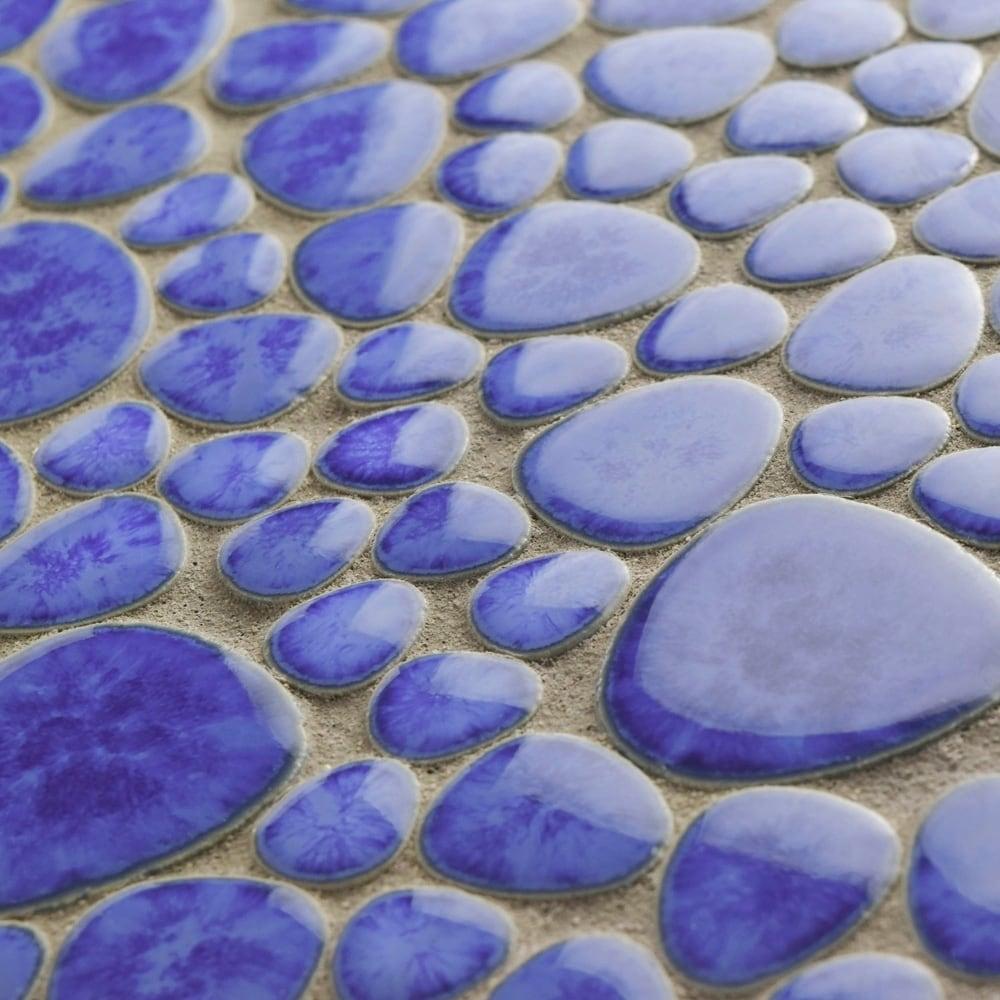 SomerTile 11x11-inch Quarry Blue Cloud Porcelain Mosaic Floor and ...