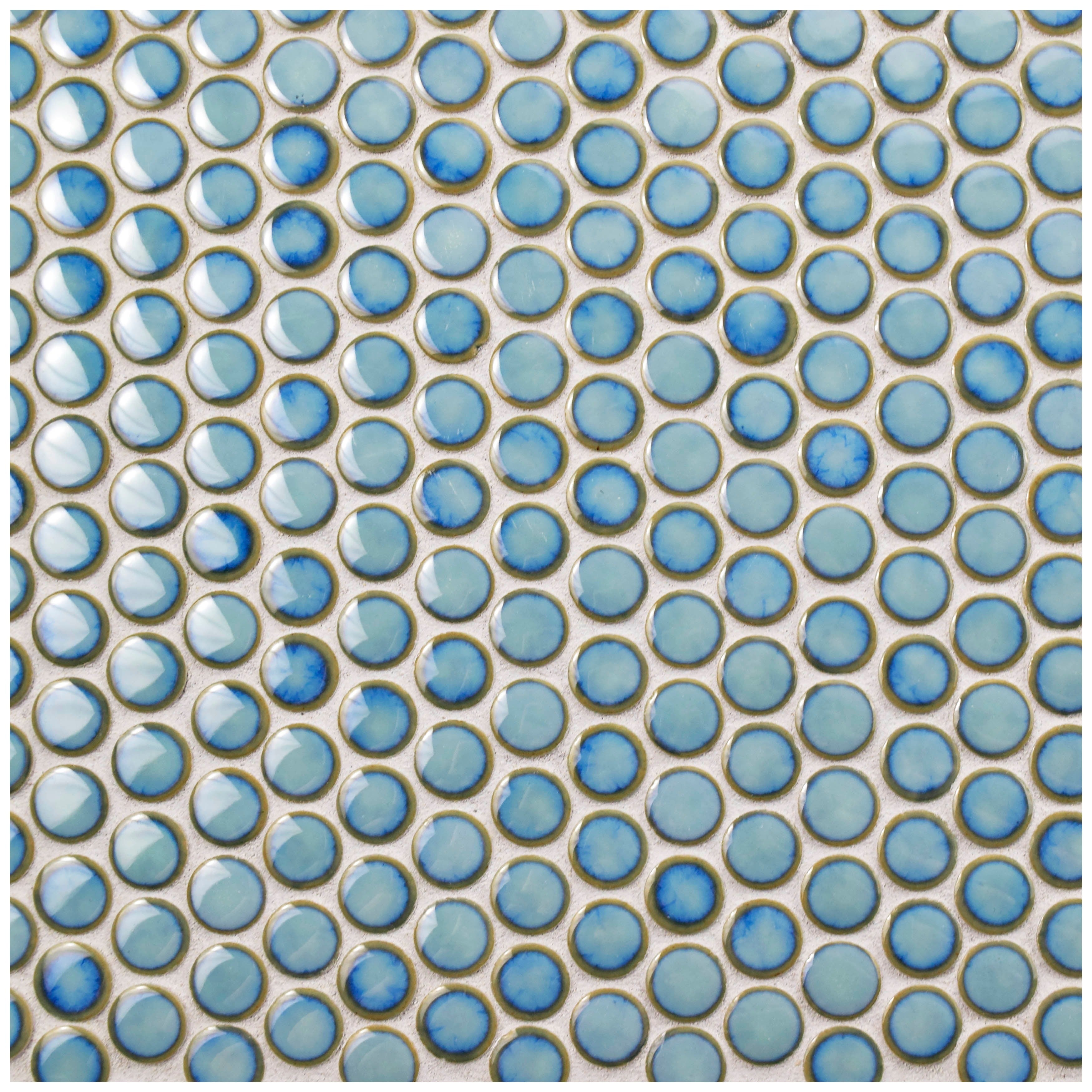 SomerTile 12x12.625-inch Penny Marine Porcelain Mosaic Floor and ...