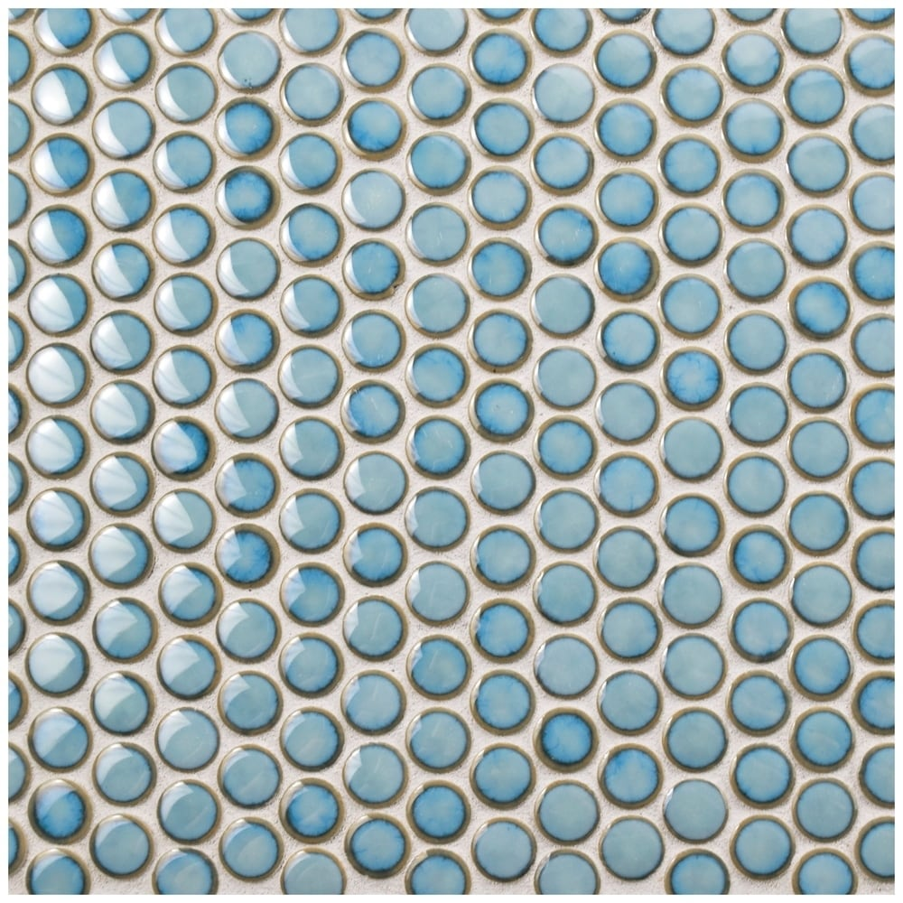 Shop SomerTile 12x12.625-inch Penny Marine Porcelain Mosaic Floor ...