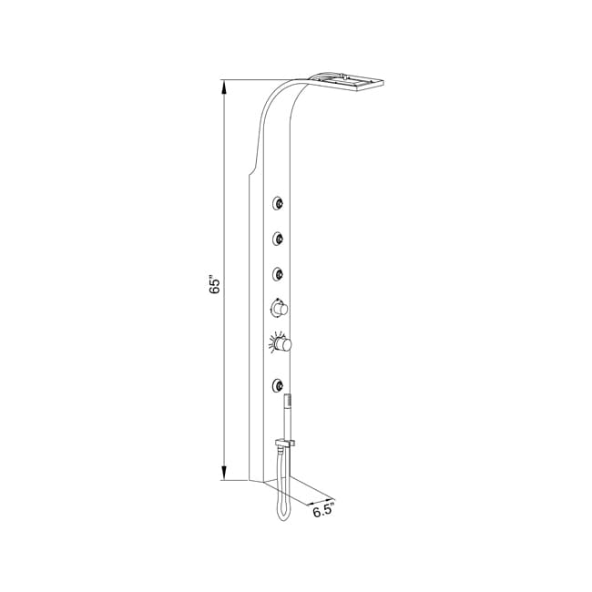 Ariel A303 Stainless Steel Shower Panel With Thermostatic Faucet Free Shipping Today 4566763