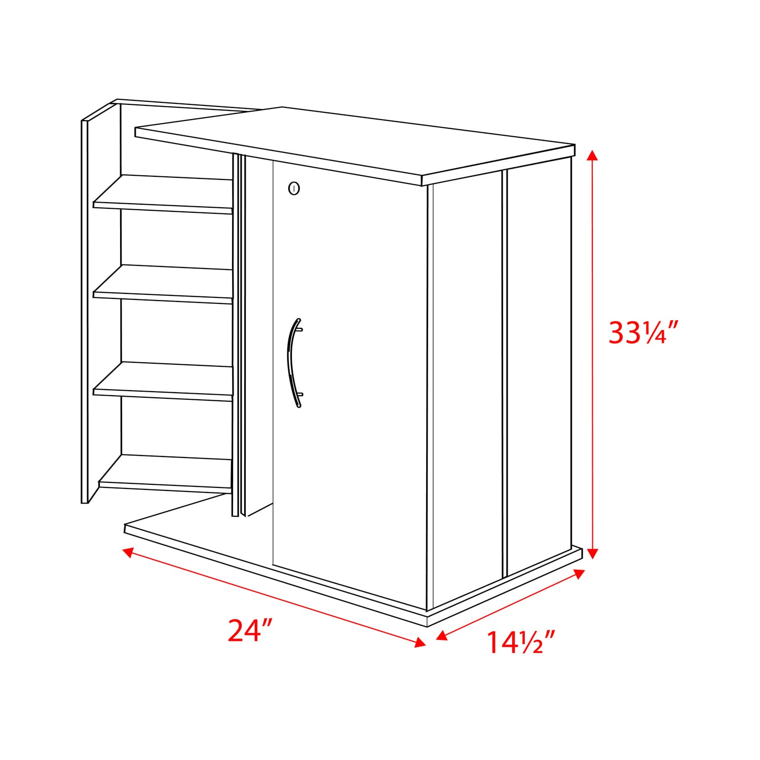 Locking Media Storage Cabinet   Free Shipping Today   Overstock.com   929436